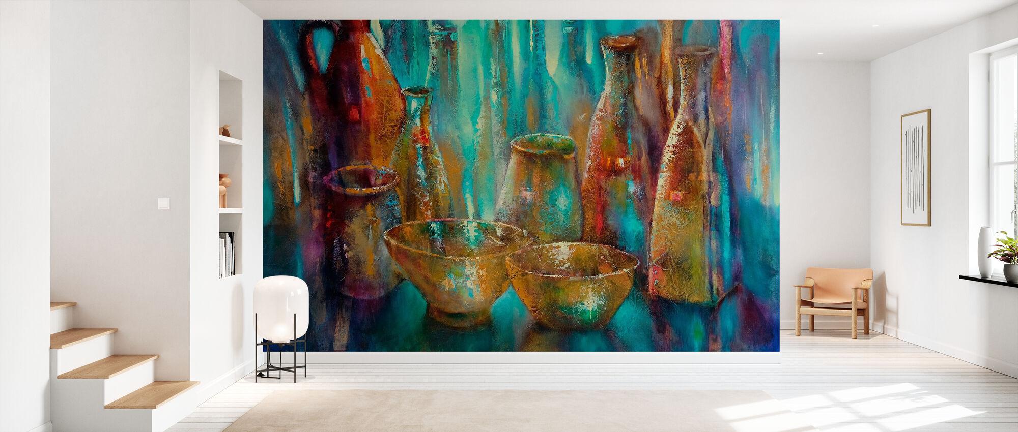 Two Golden Bowls - Wallpaper - Hallway