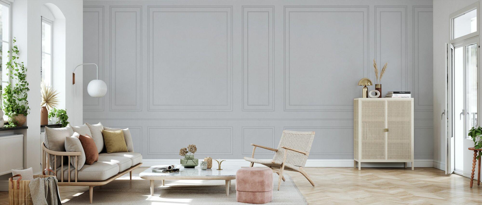 Voguish Wall Panel - Gray - Wallpaper - Living Room