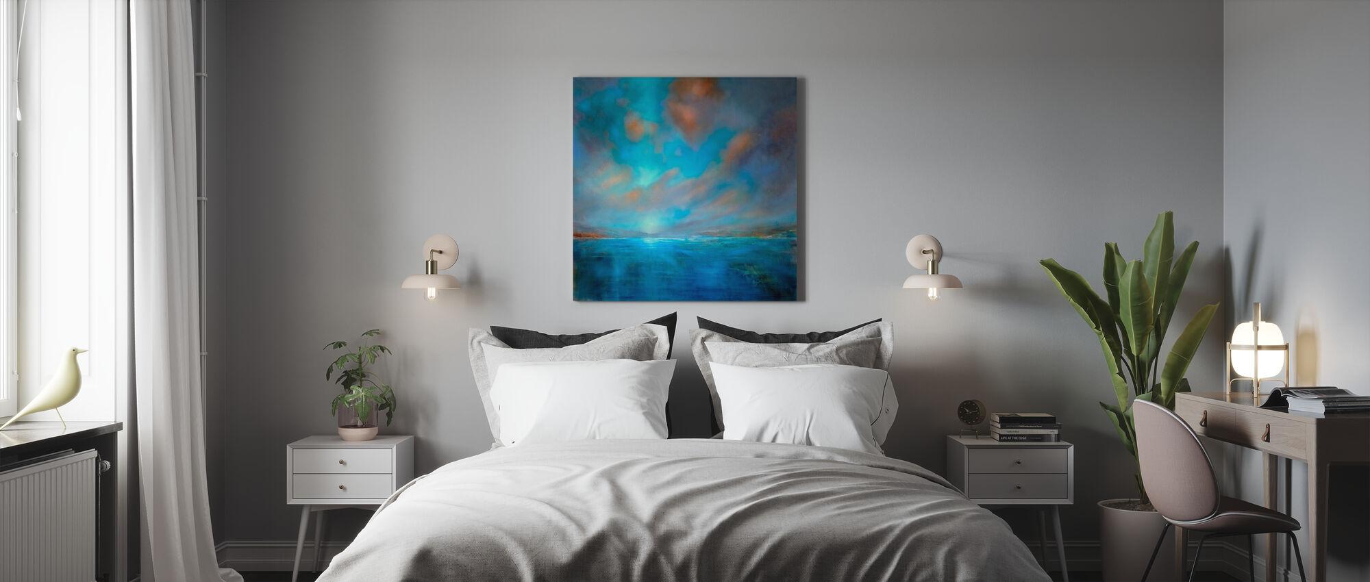 Blauw Breed - Canvas print - Slaapkamer