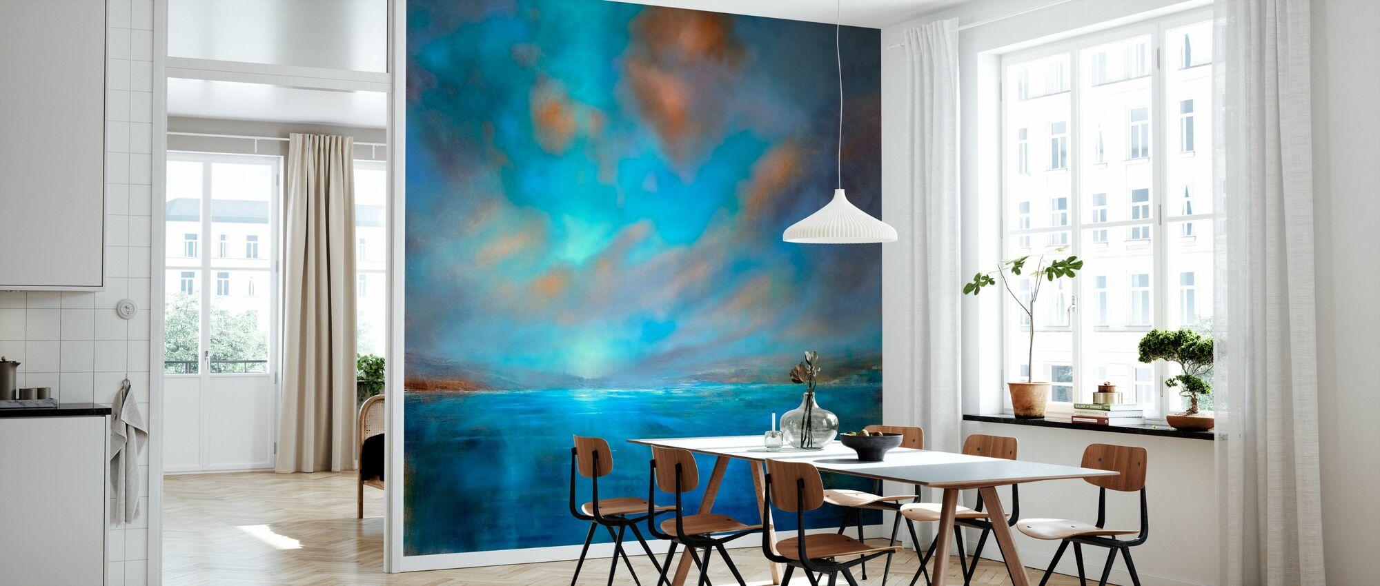 Blue Wide - Wallpaper - Kitchen