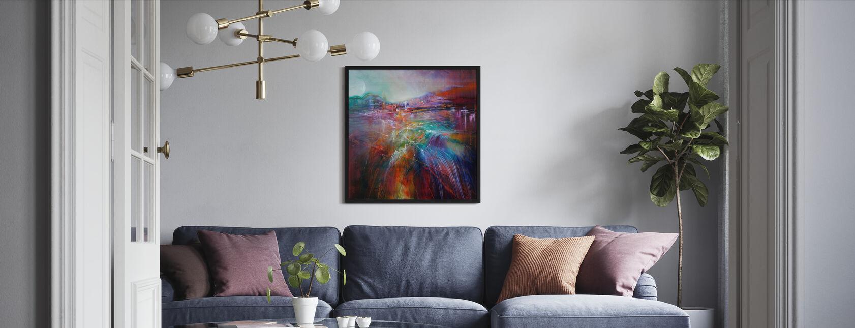 Evening Glow - Framed print - Living Room