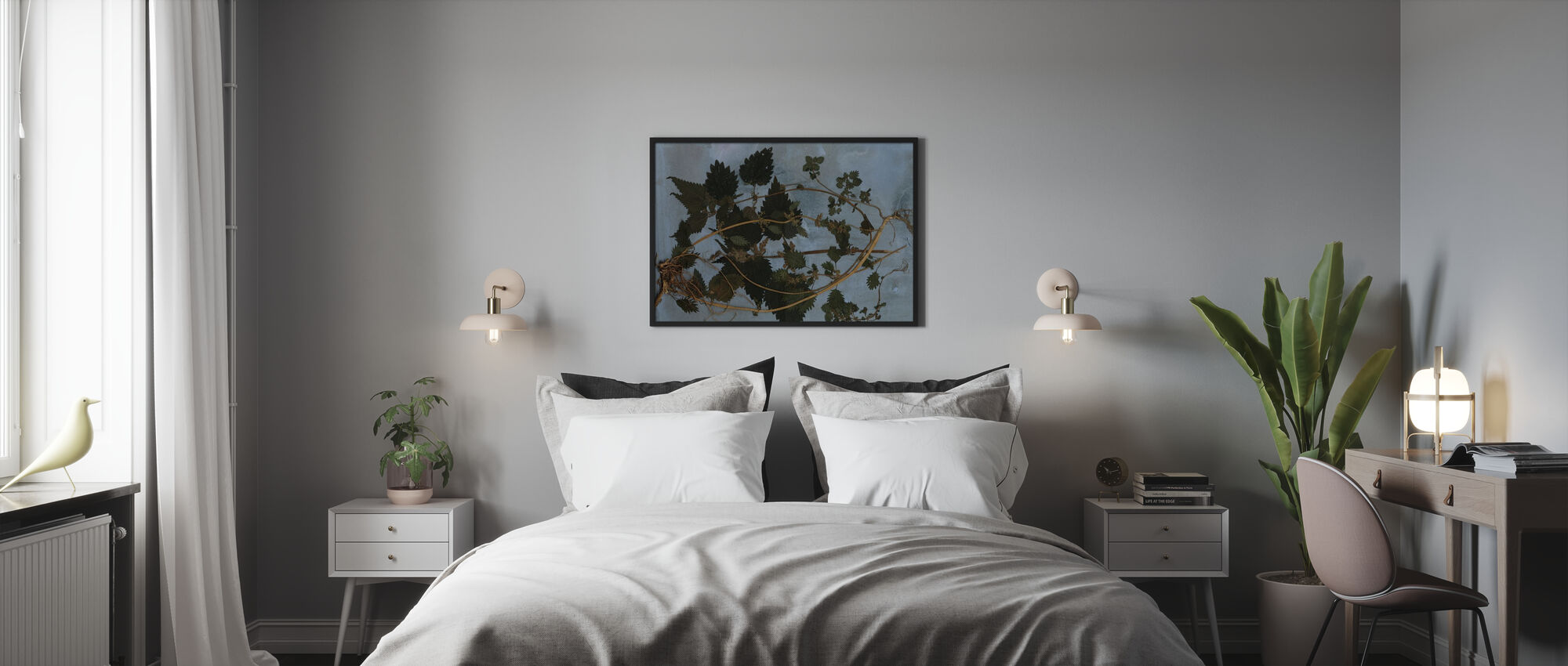 Nässlor - Inramad tavla - Sovrum