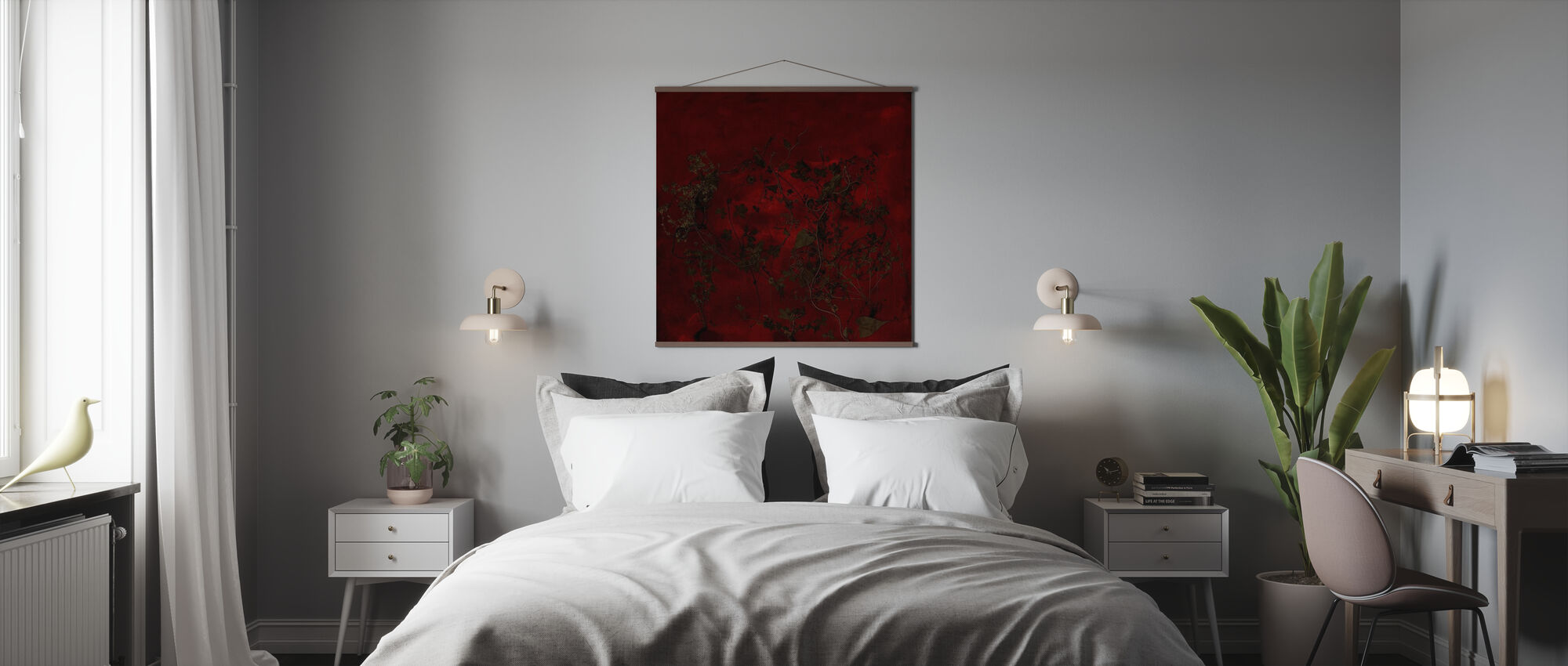 Nacht Tuin - Poster - Slaapkamer