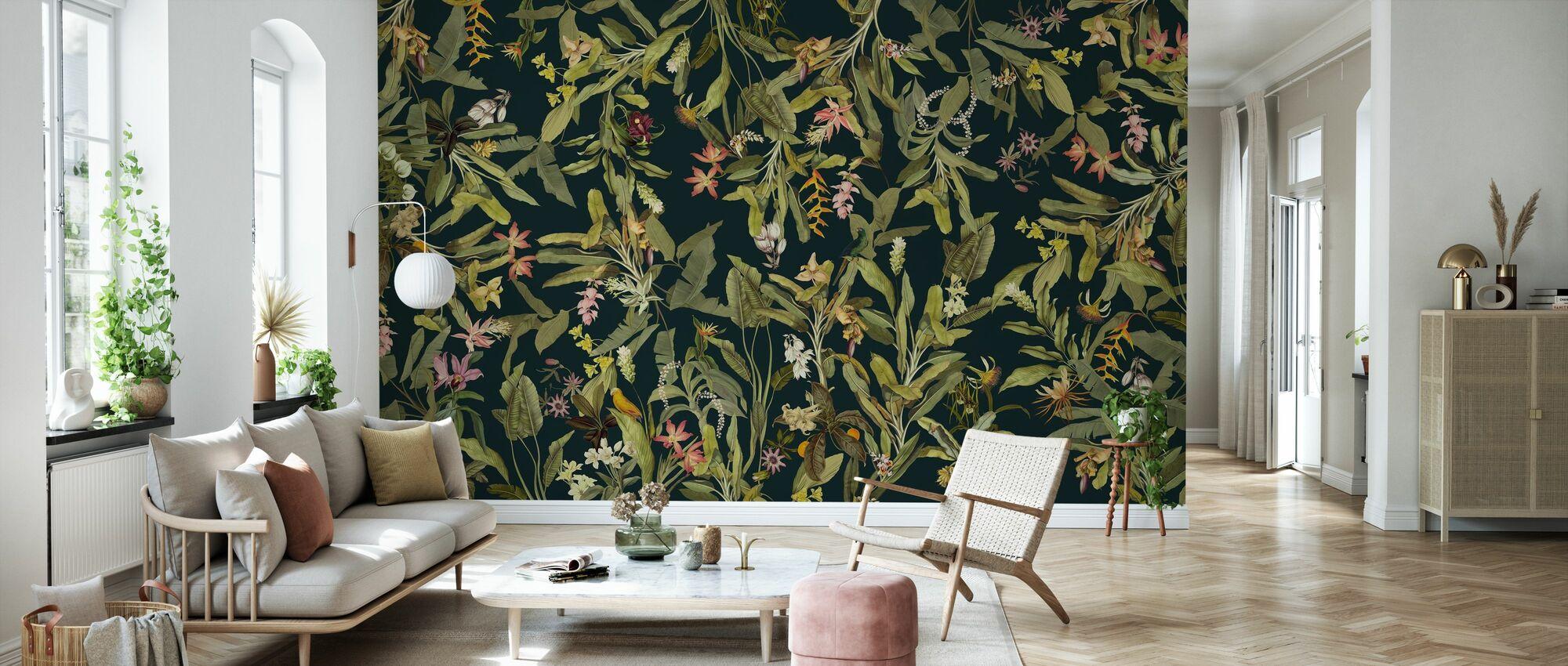 Botanical Tropics - Dark - Wallpaper - Living Room