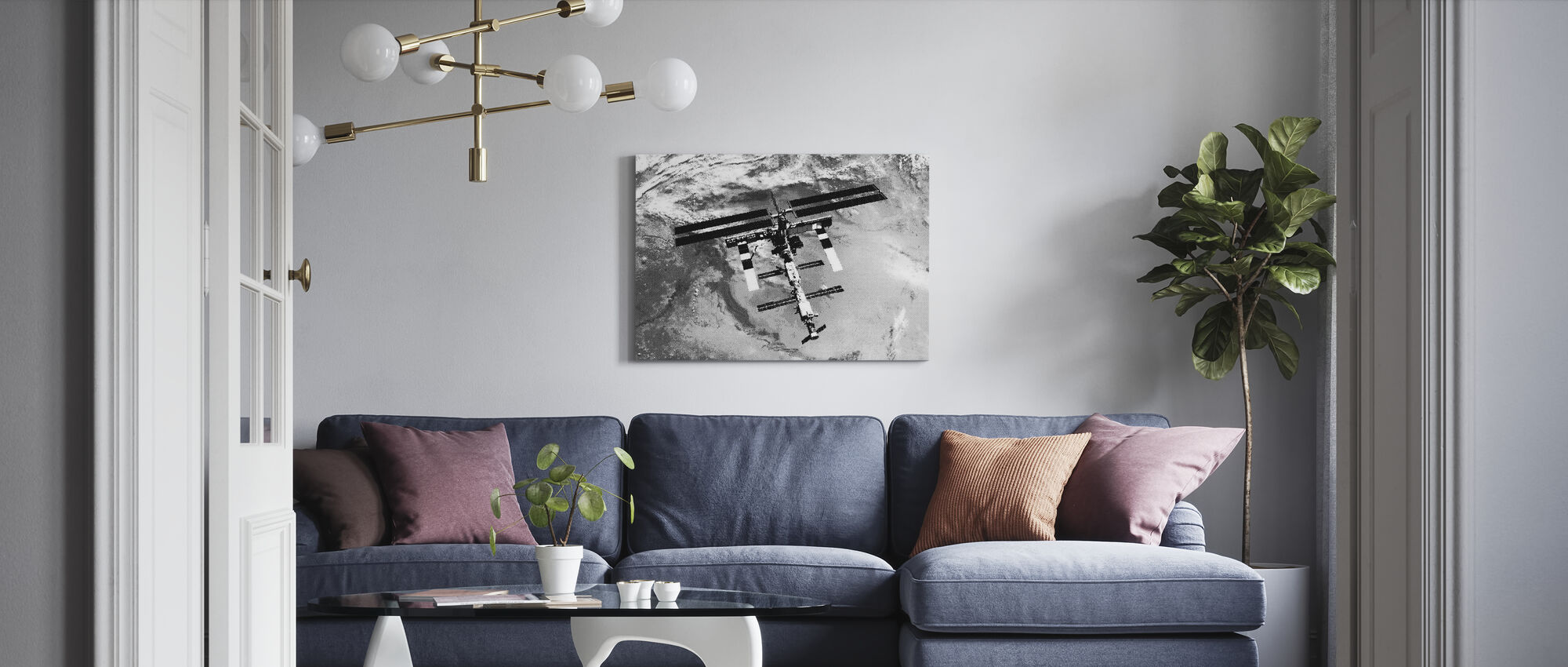 Final Frontier ISS - Canvas print - Living Room