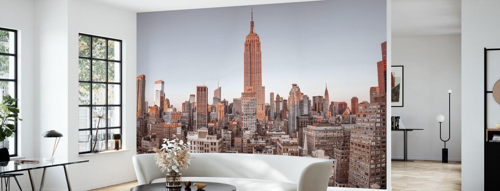 New York - Vue sur les oiseaux - Papier peint - Salle à manger