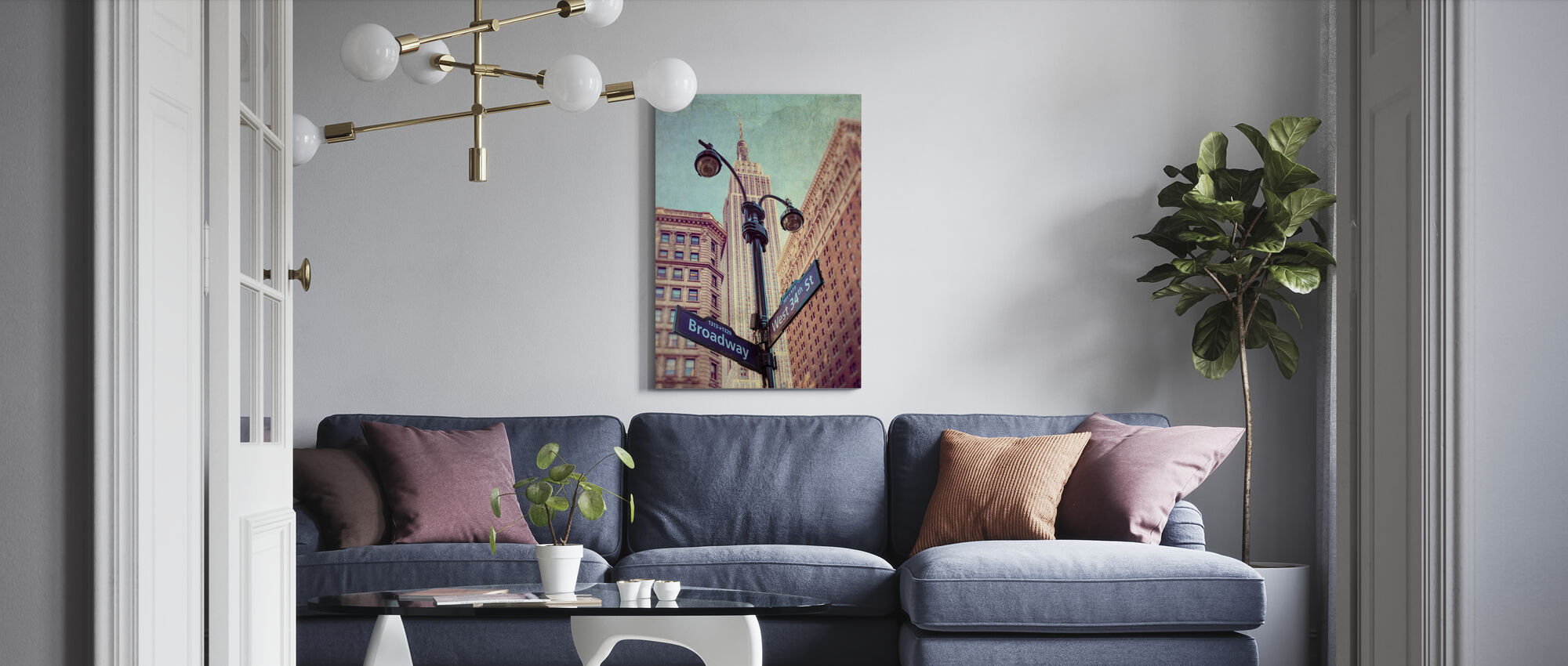New York Signs - Canvas print - Living Room