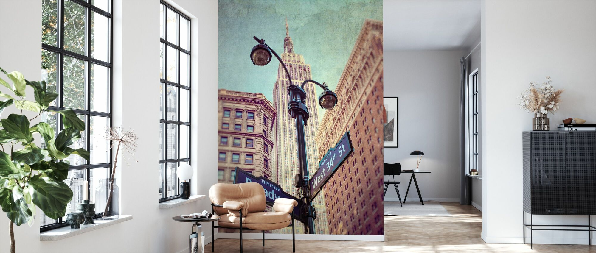 New York Zeichen - Tapete - Wohnzimmer