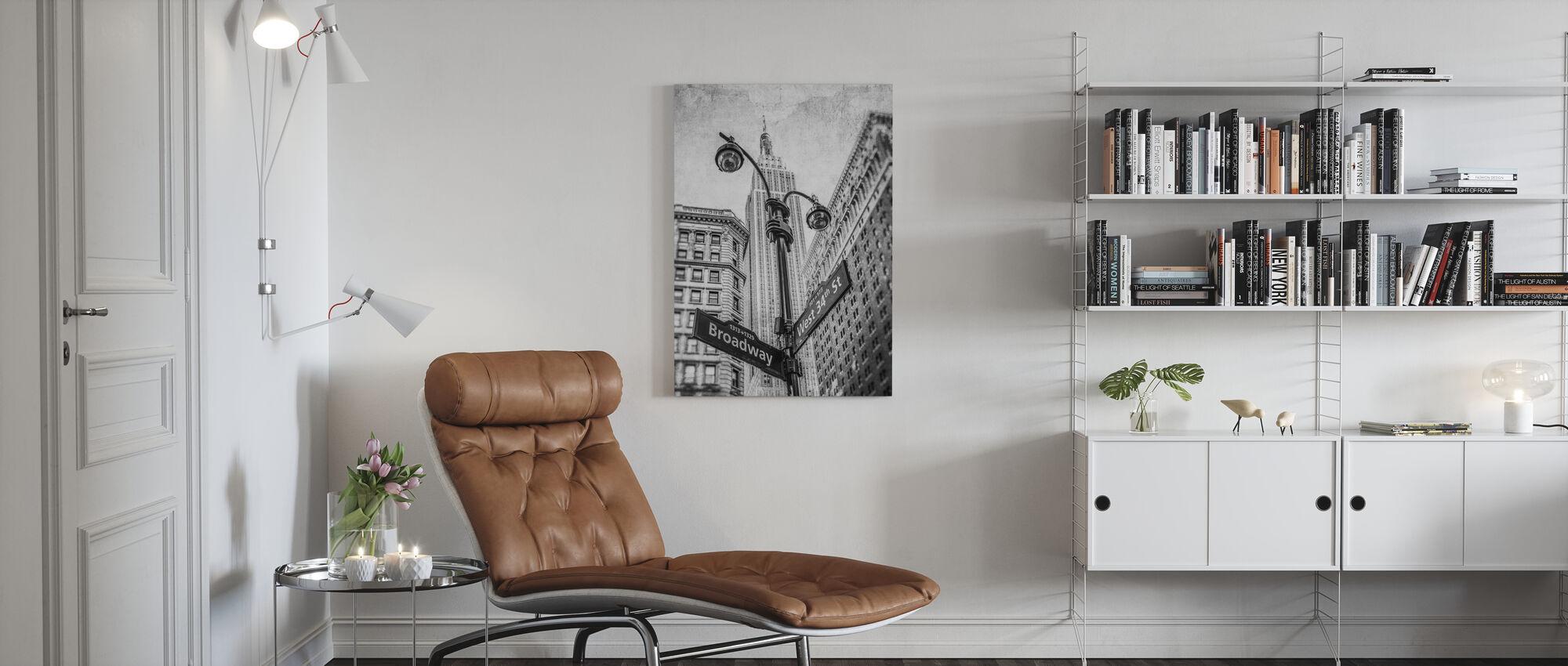 New York Borden - BW - Canvas print - Woonkamer
