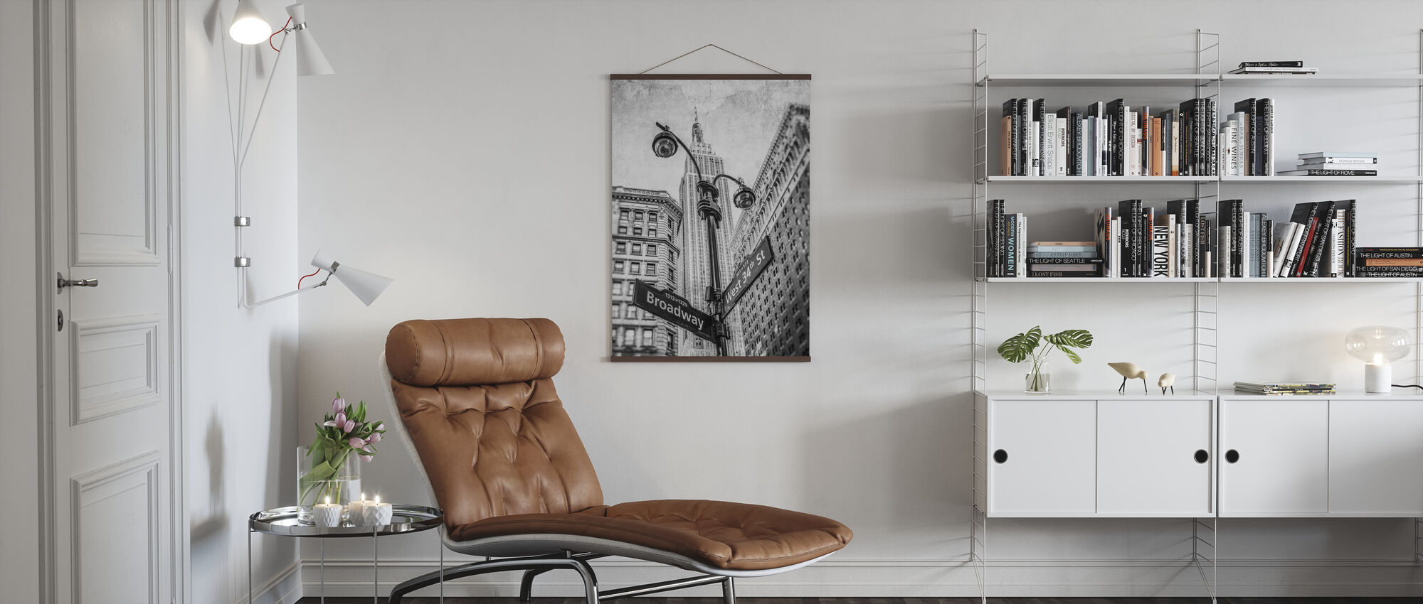 New York Signs - BW - Poster - Living Room