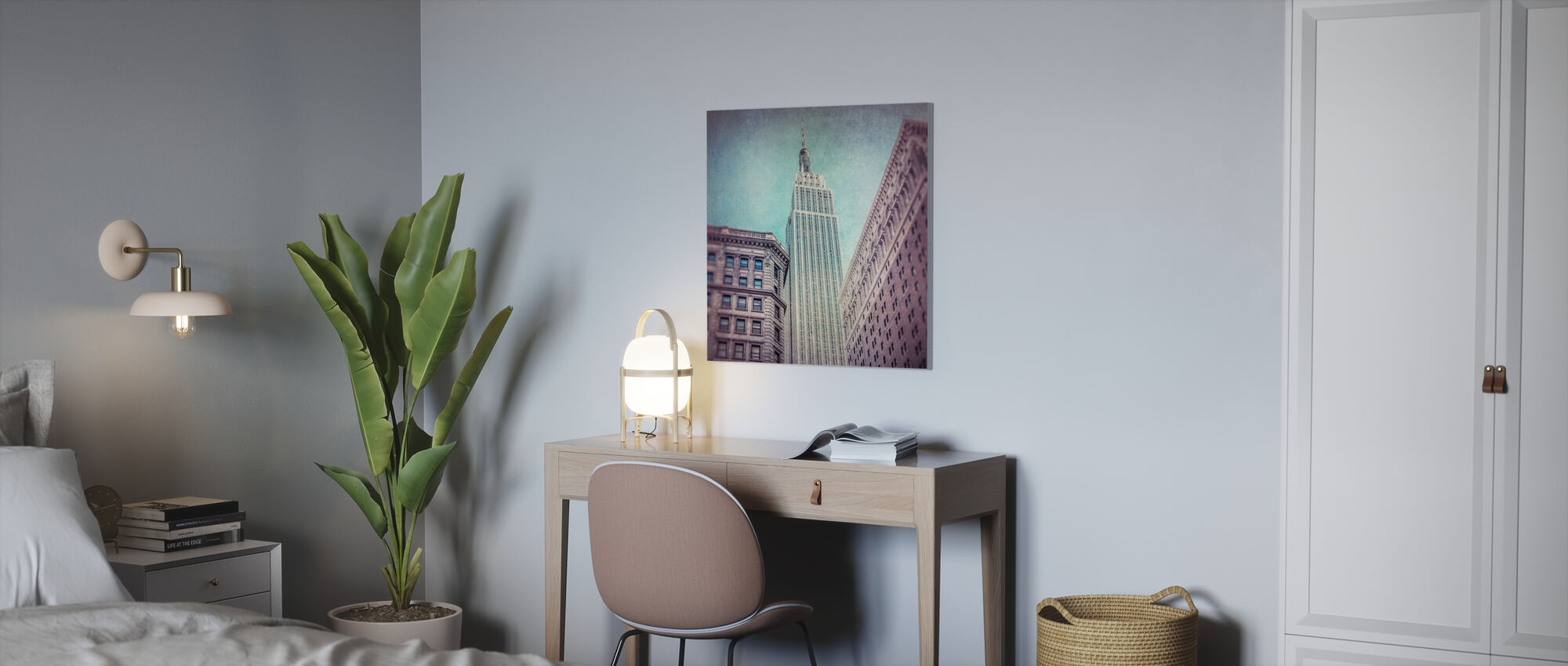 Vintage Empire State Building - Canvas print - Office