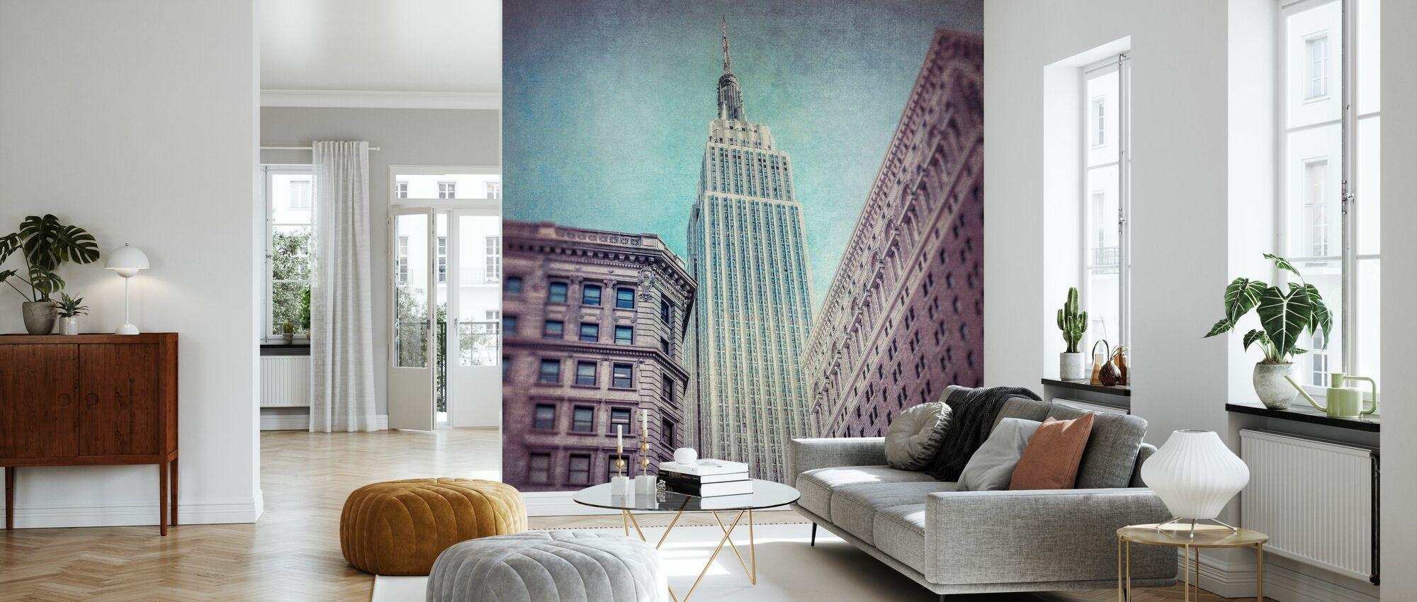 Vintage Empire State Building - Tapete - Wohnzimmer