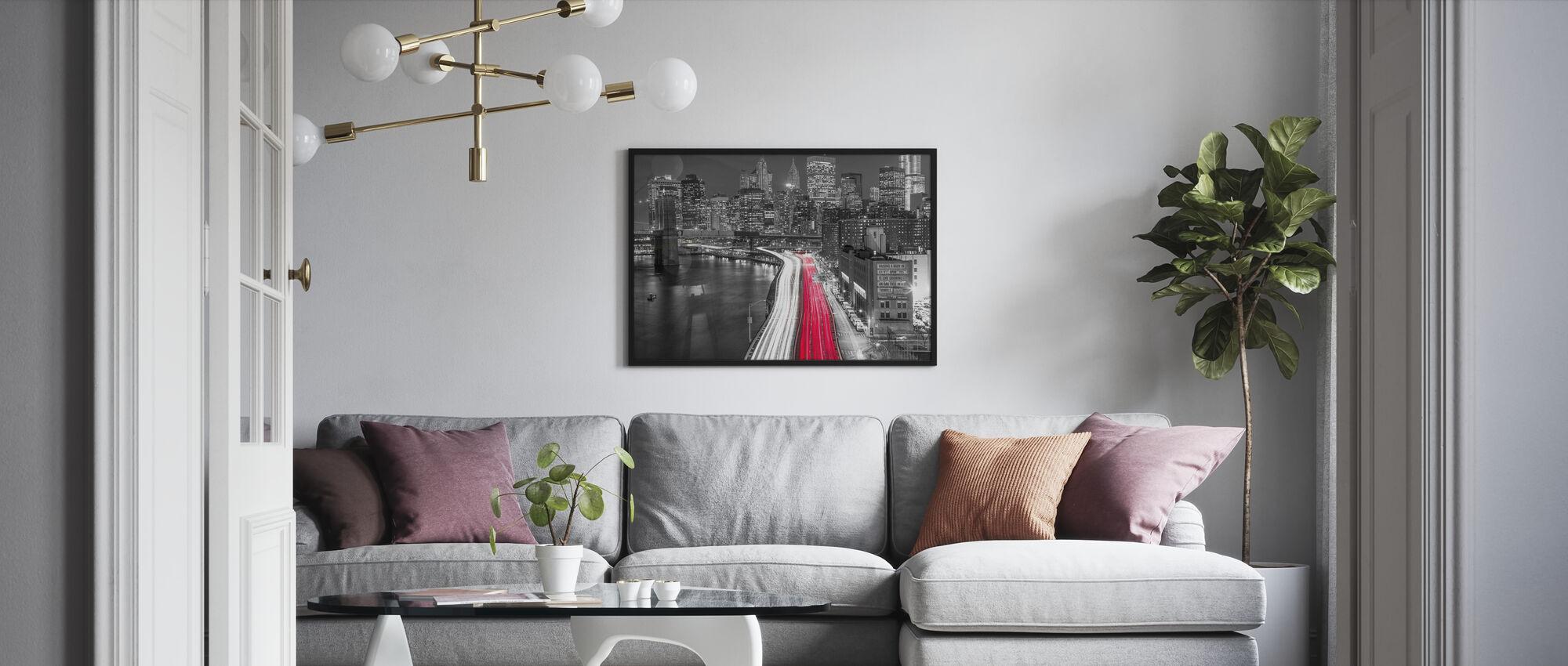 New York City Movement - Bw - Poster - Living Room