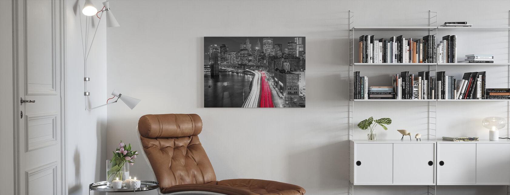 New York City Movement - Bw - Canvas print - Living Room