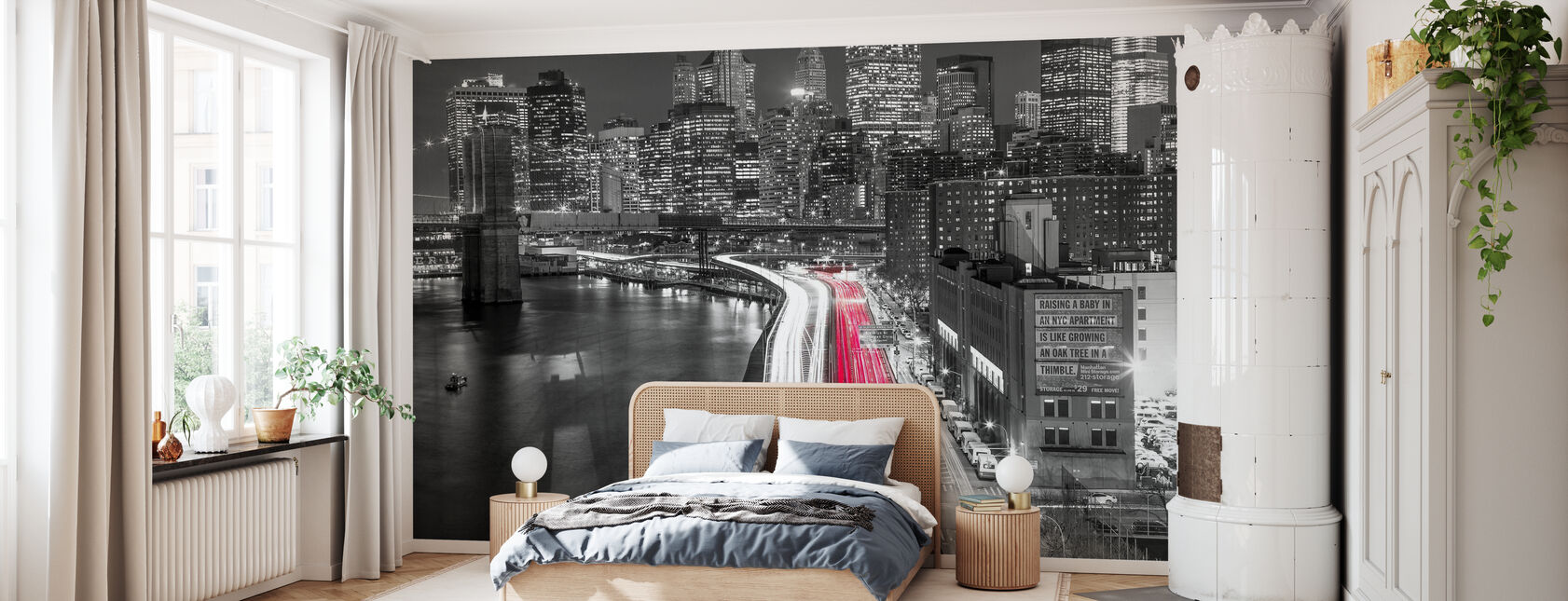 New York City Movement - Bw - Wallpaper - Bedroom