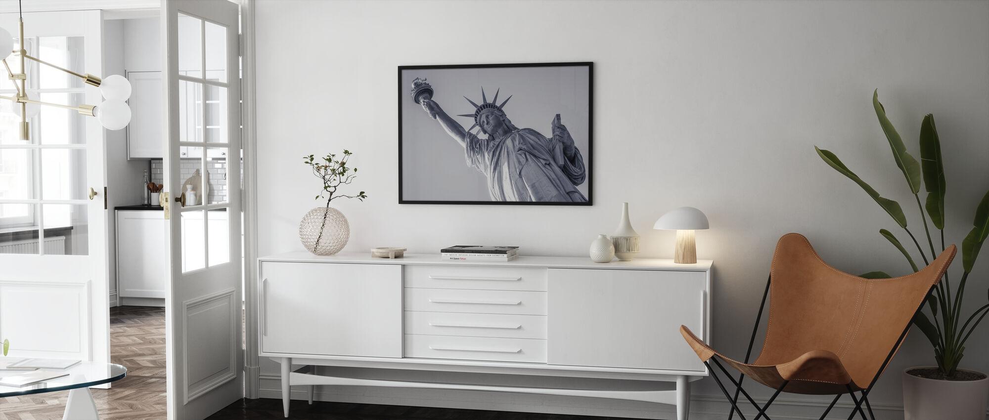 Vrijheidsbeeld - Ingelijste print - Woonkamer