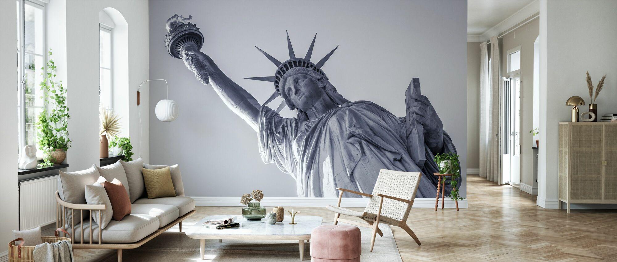 Vrijheidsbeeld - Behang - Woonkamer