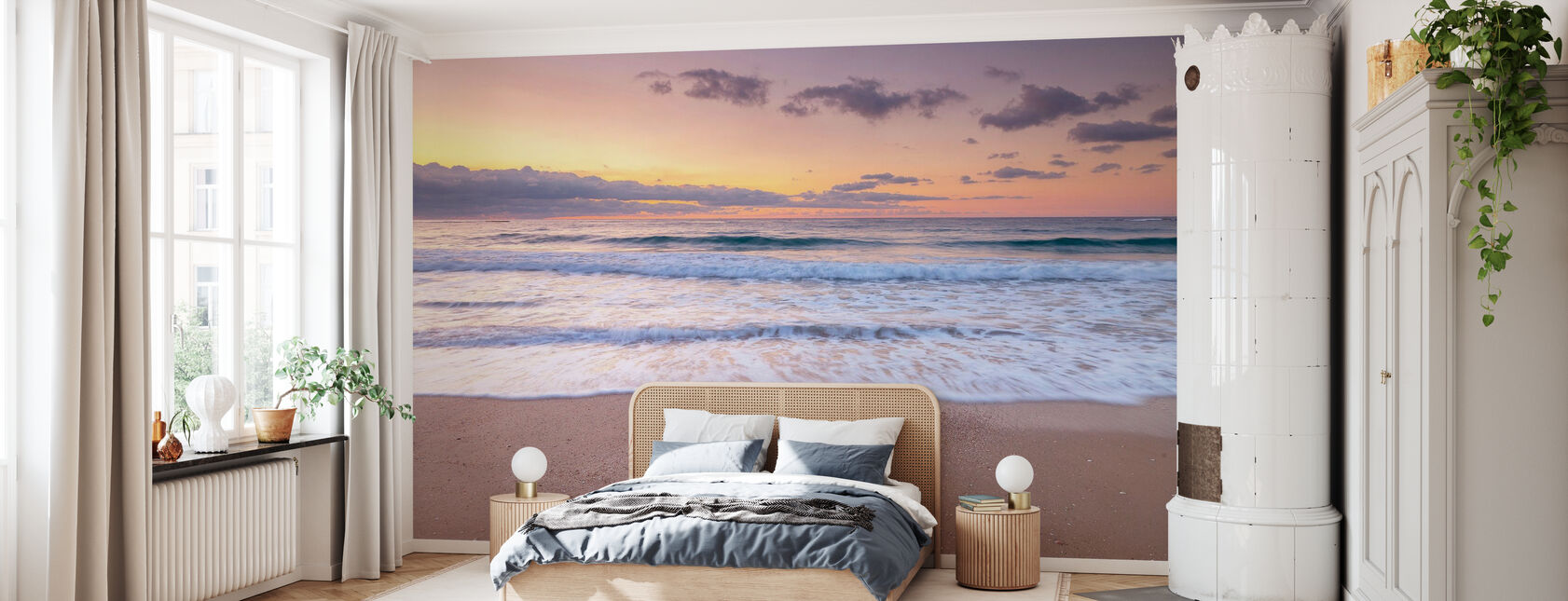 Vue sur le rivage - Papier peint - Chambre
