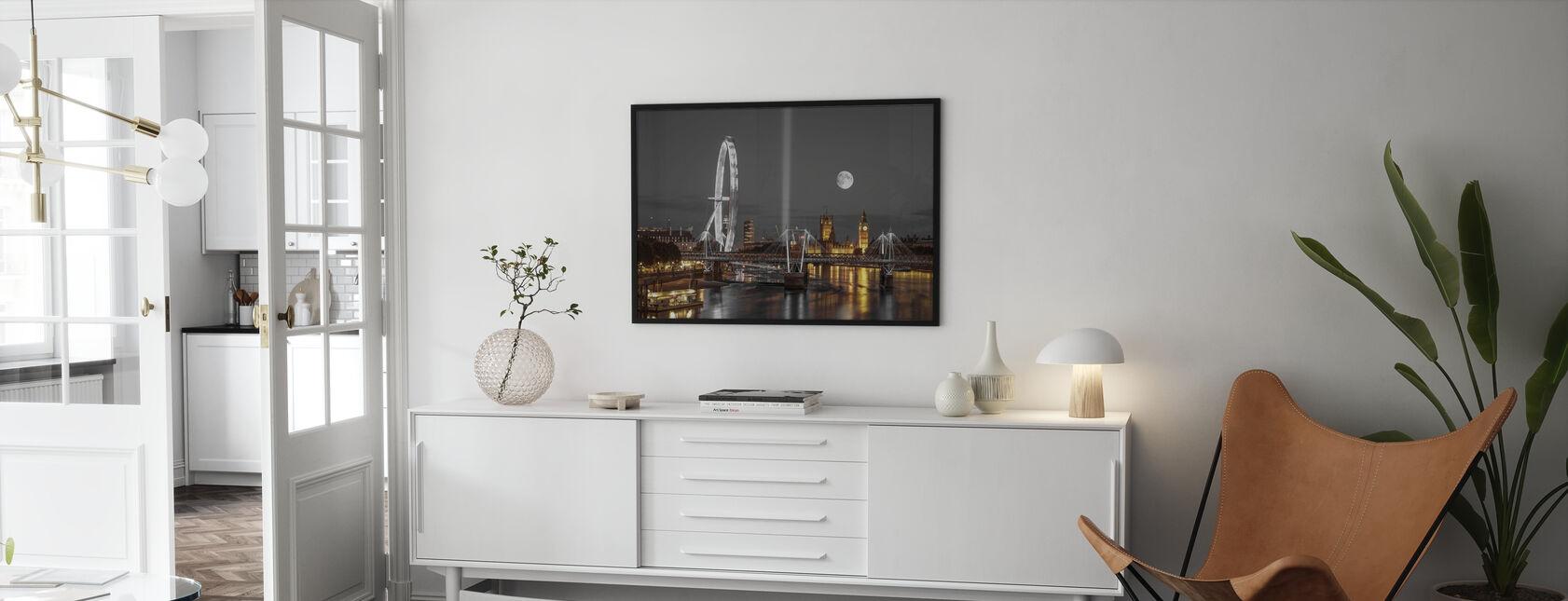 London at Night - Framed print - Living Room