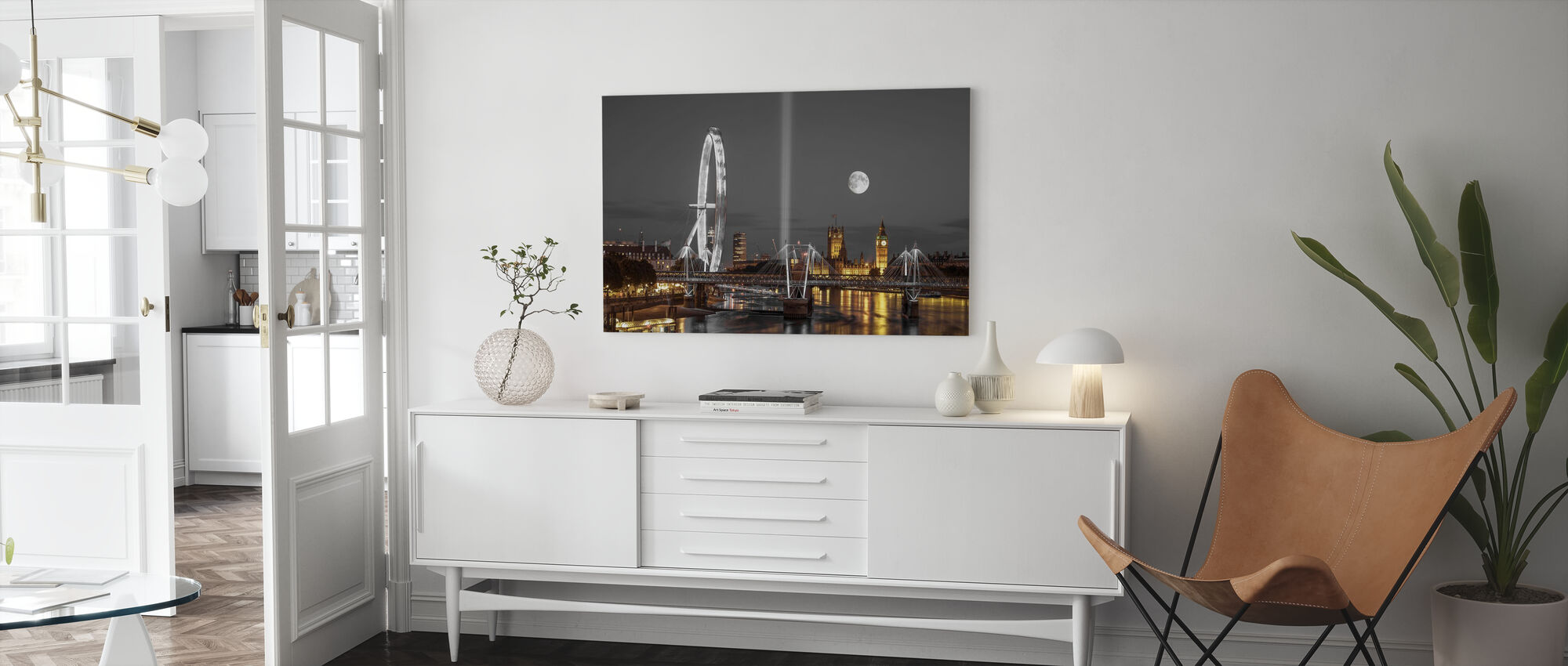 London at Night - Canvas print - Living Room