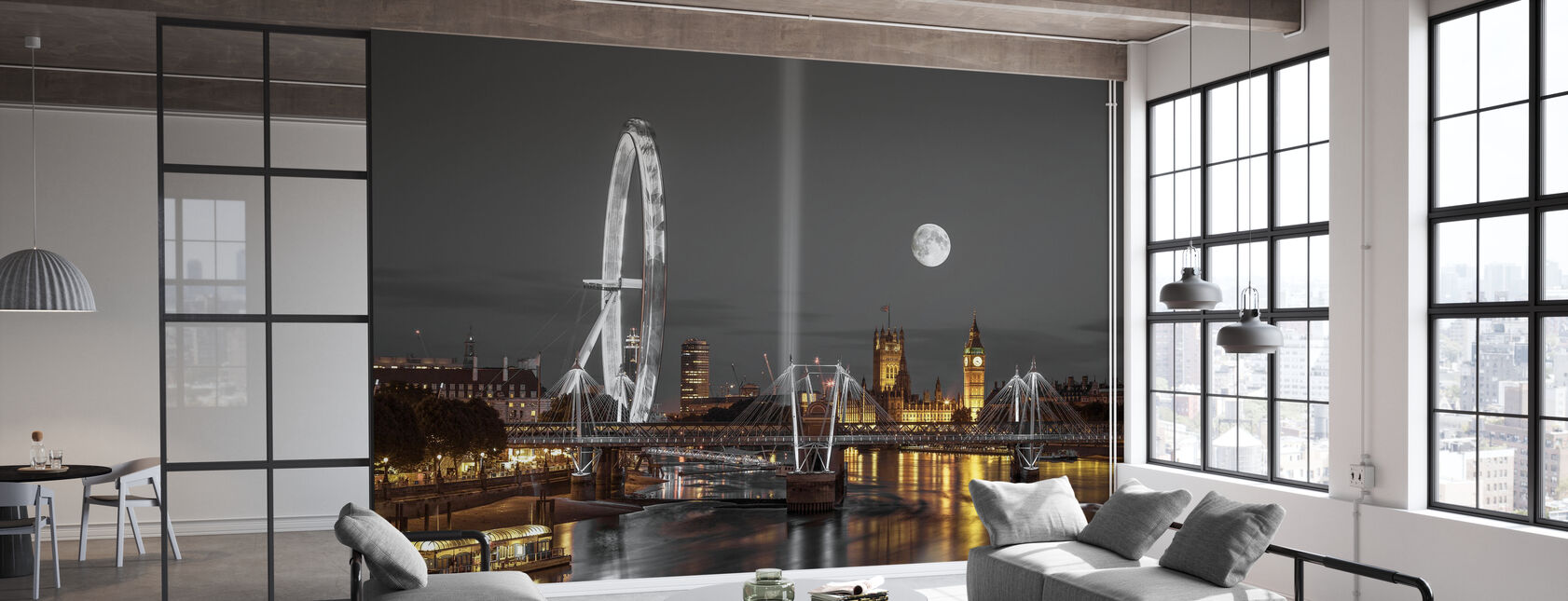 London at Night - Wallpaper - Office