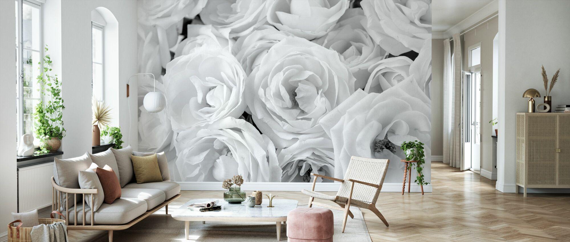 White Roses - Wallpaper - Living Room