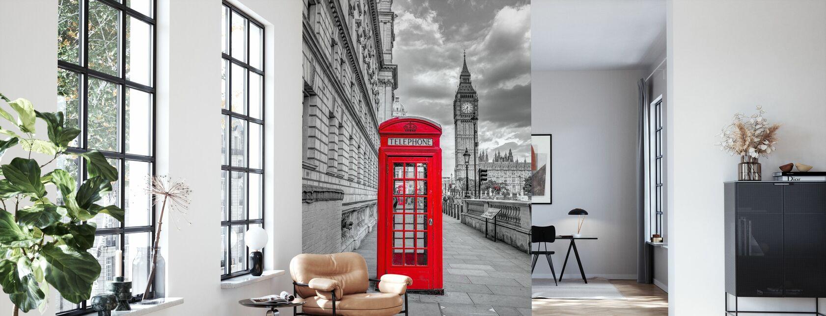 London Phone Booth - Wallpaper - Living Room
