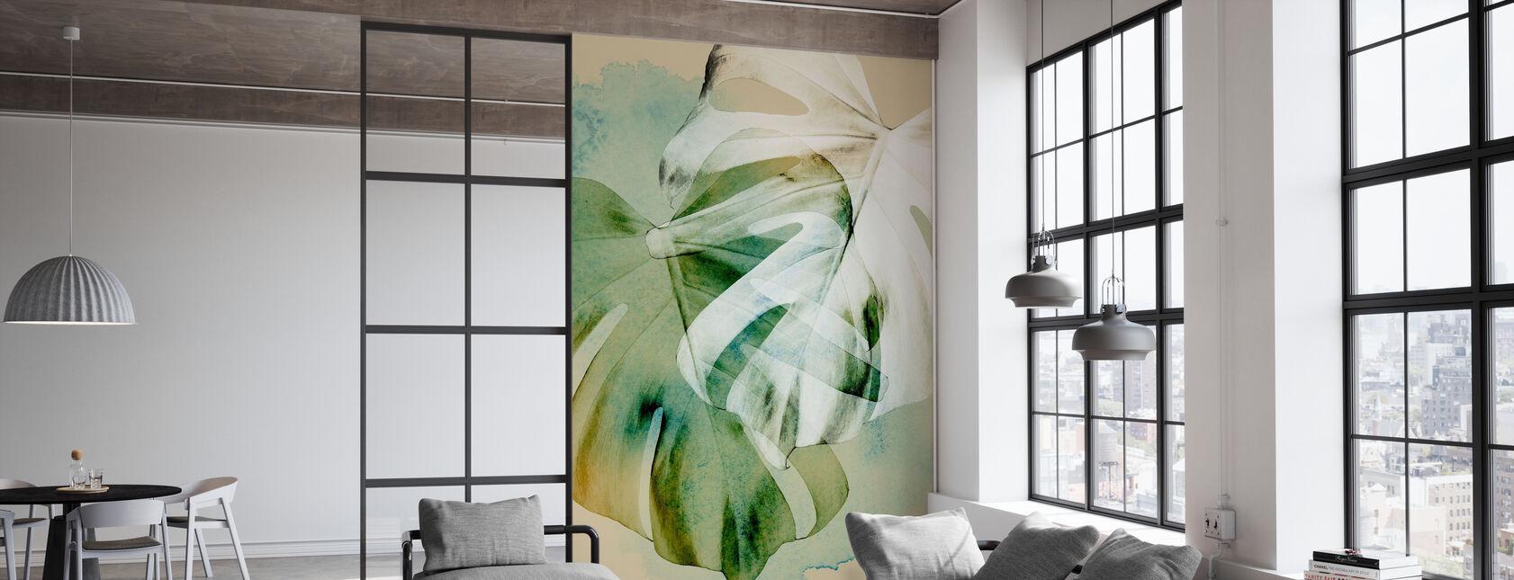 Monstera Leaf - Wallpaper - Office