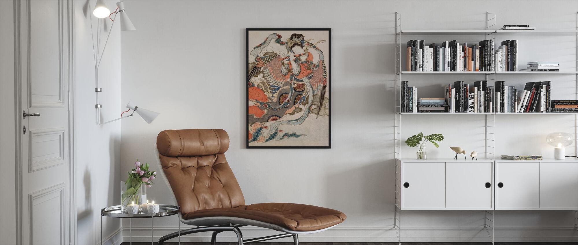 Asiatischer Engel - Gerahmtes bild - Wohnzimmer
