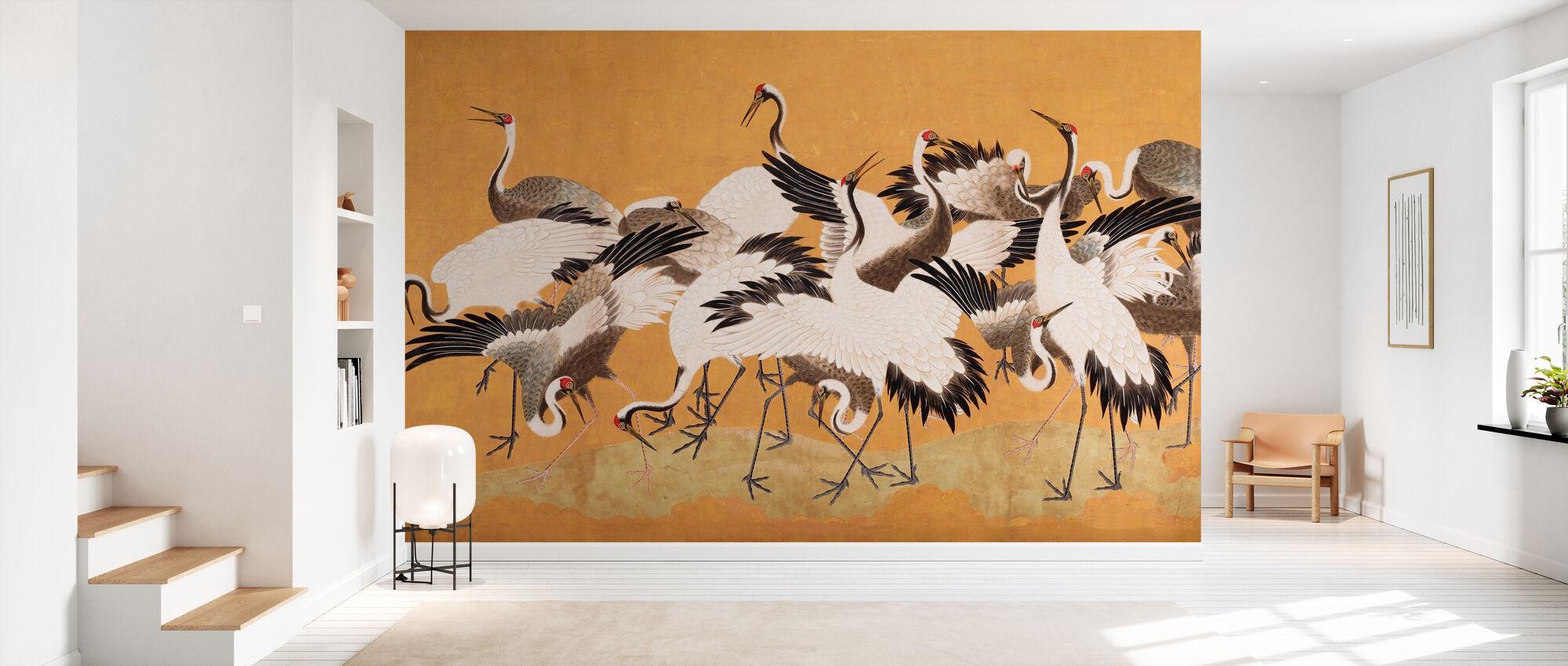 Crane Birds - Wallpaper - Hallway