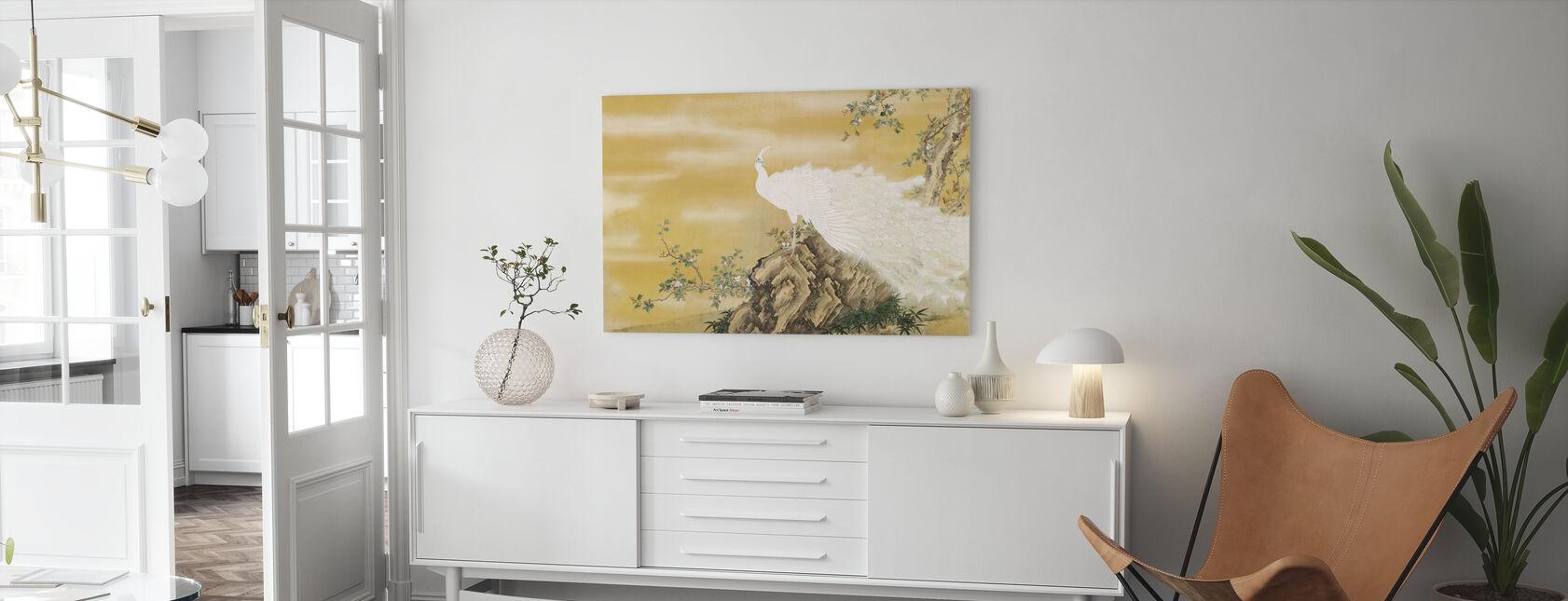 White Peafowl - Canvas print - Living Room