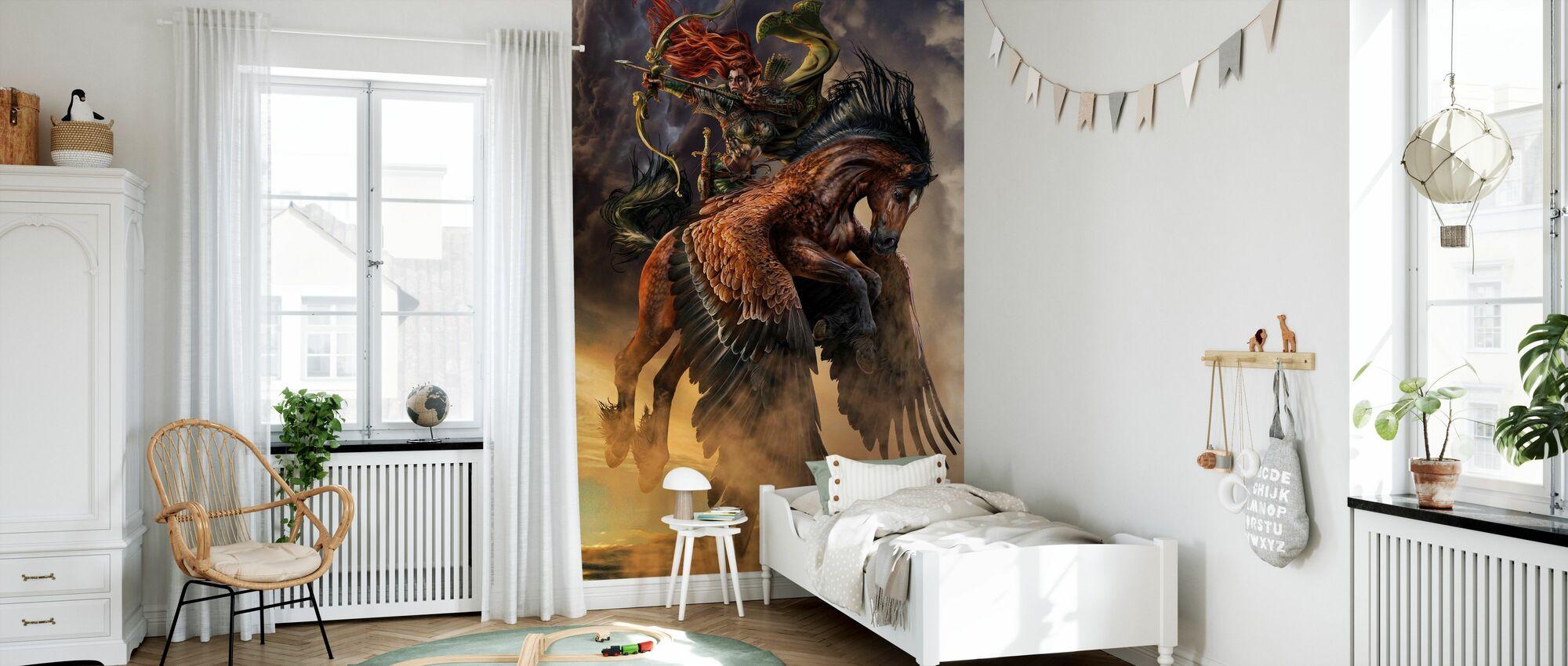 Pegasus Archer - Wallpaper - Kids Room