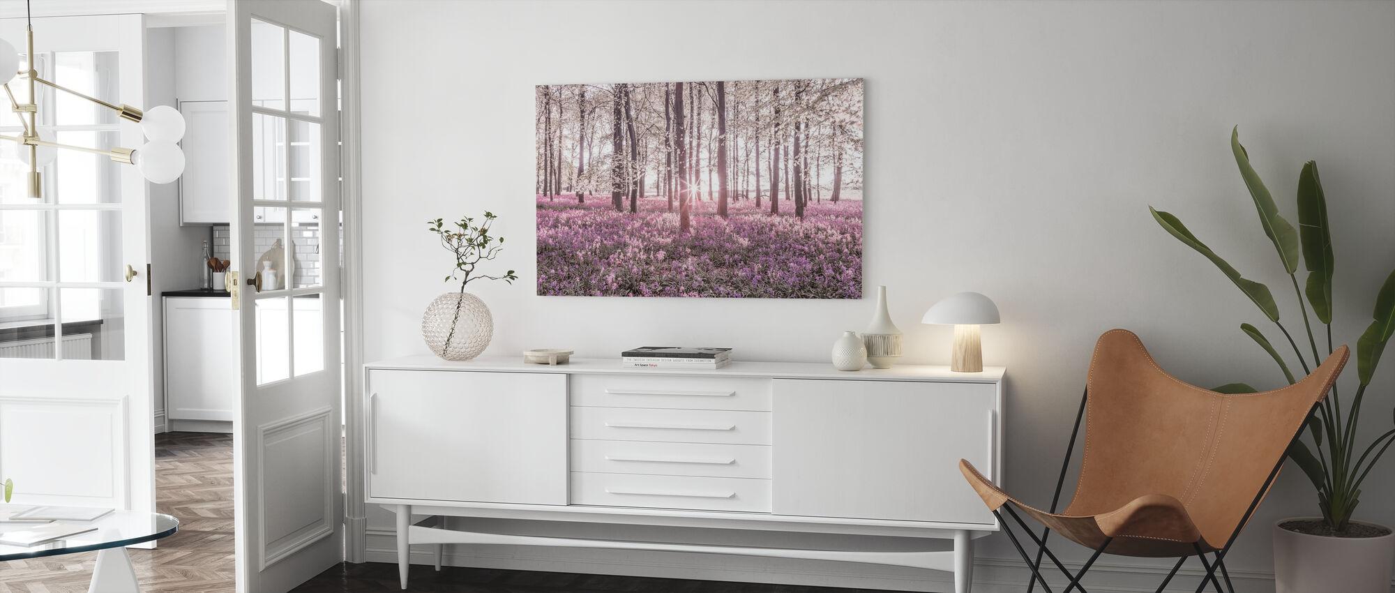 Klokjes - Violet - Canvas print - Woonkamer