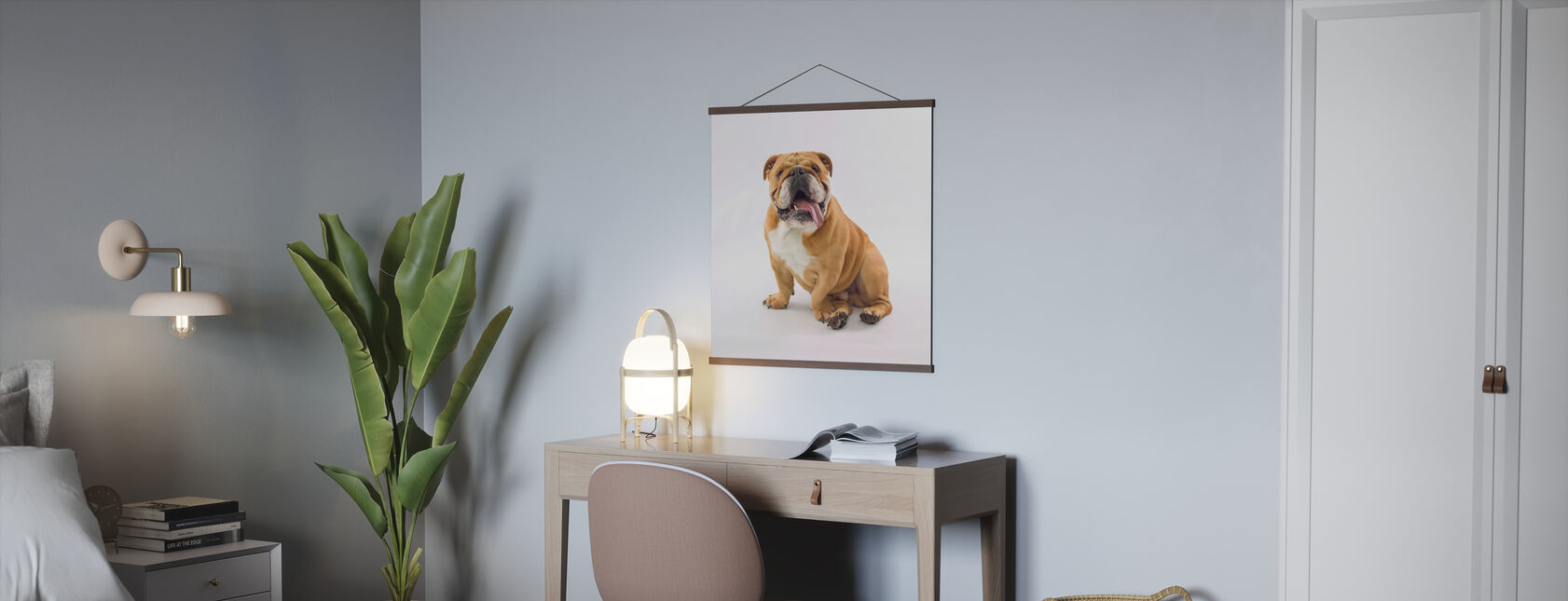 Relaxed Bulldog - Poster - Office