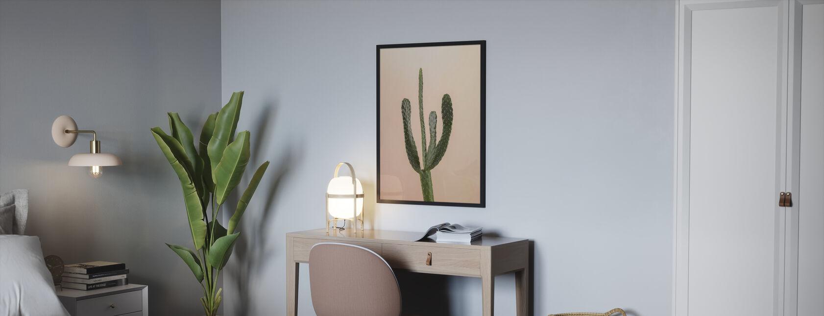 Kaktus - Beige - Plakat - Soverom