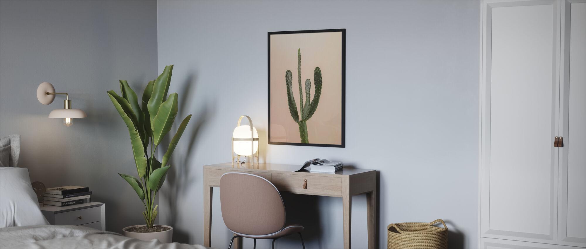 Kakteen - Beige - Poster - Schlafzimmer