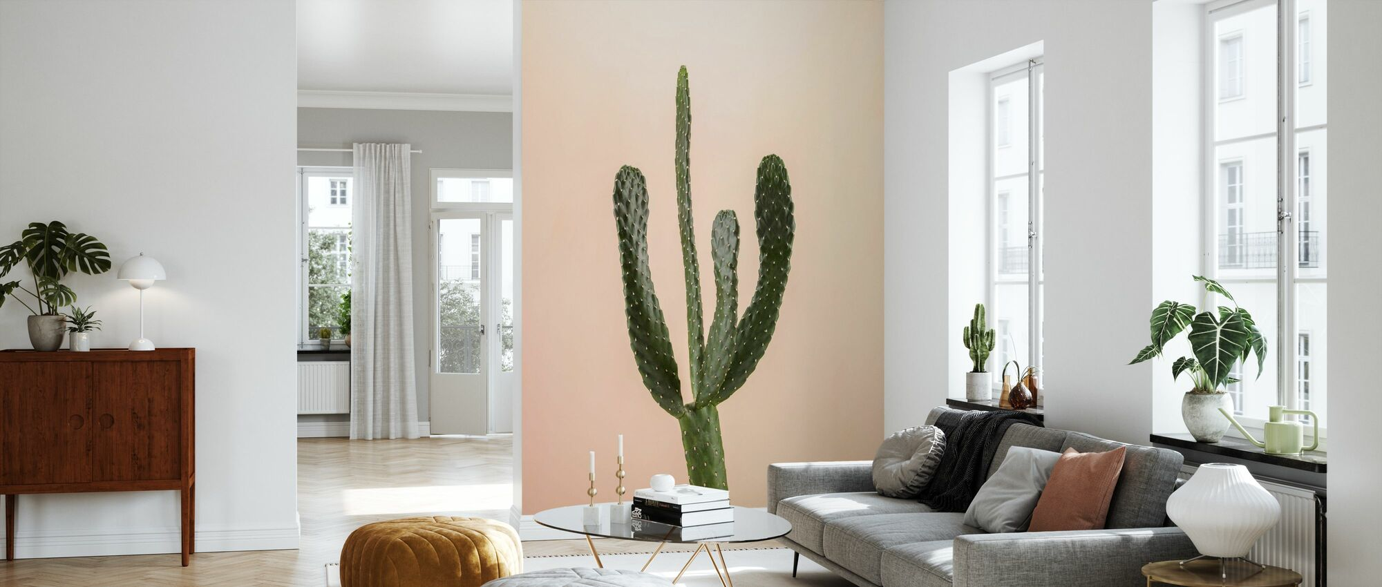 Cacti - Beige - Wallpaper - Living Room
