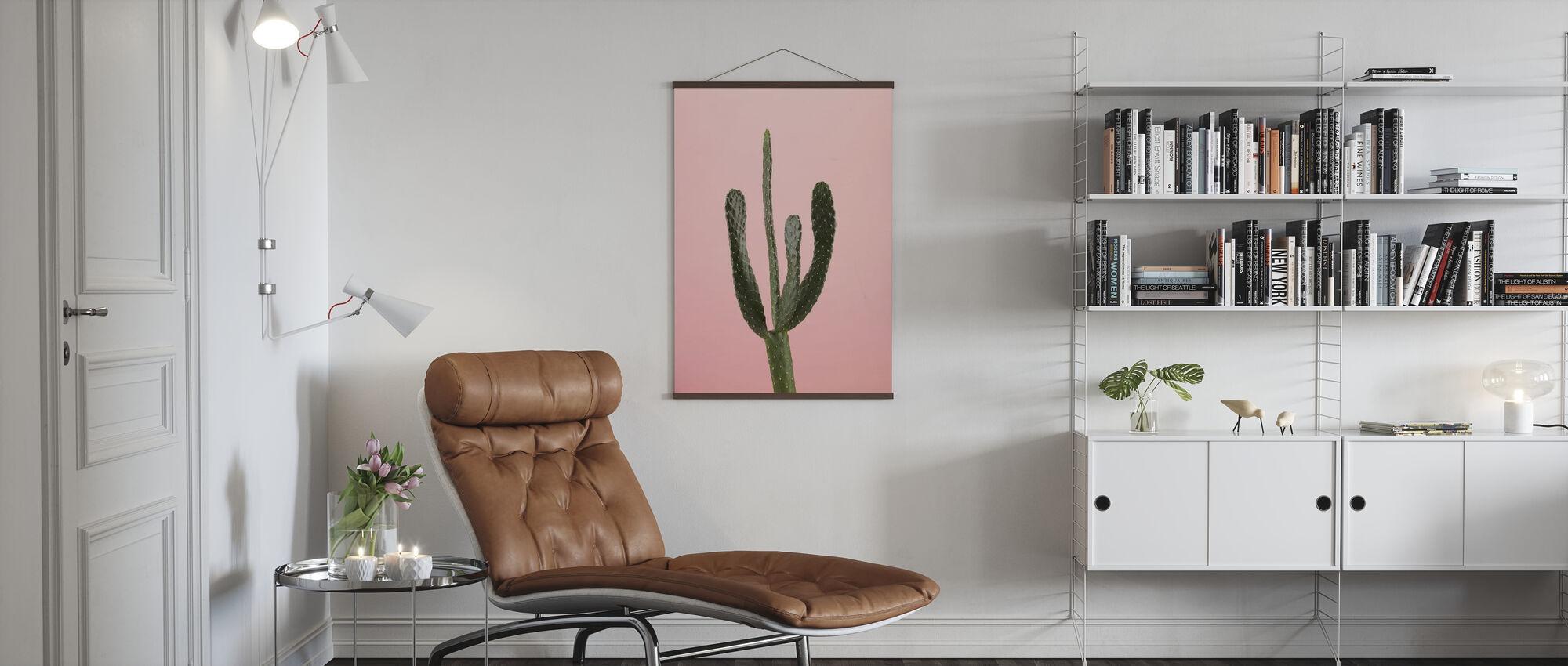 Kaktukset - Vaaleanpunainen - Juliste - Olohuone