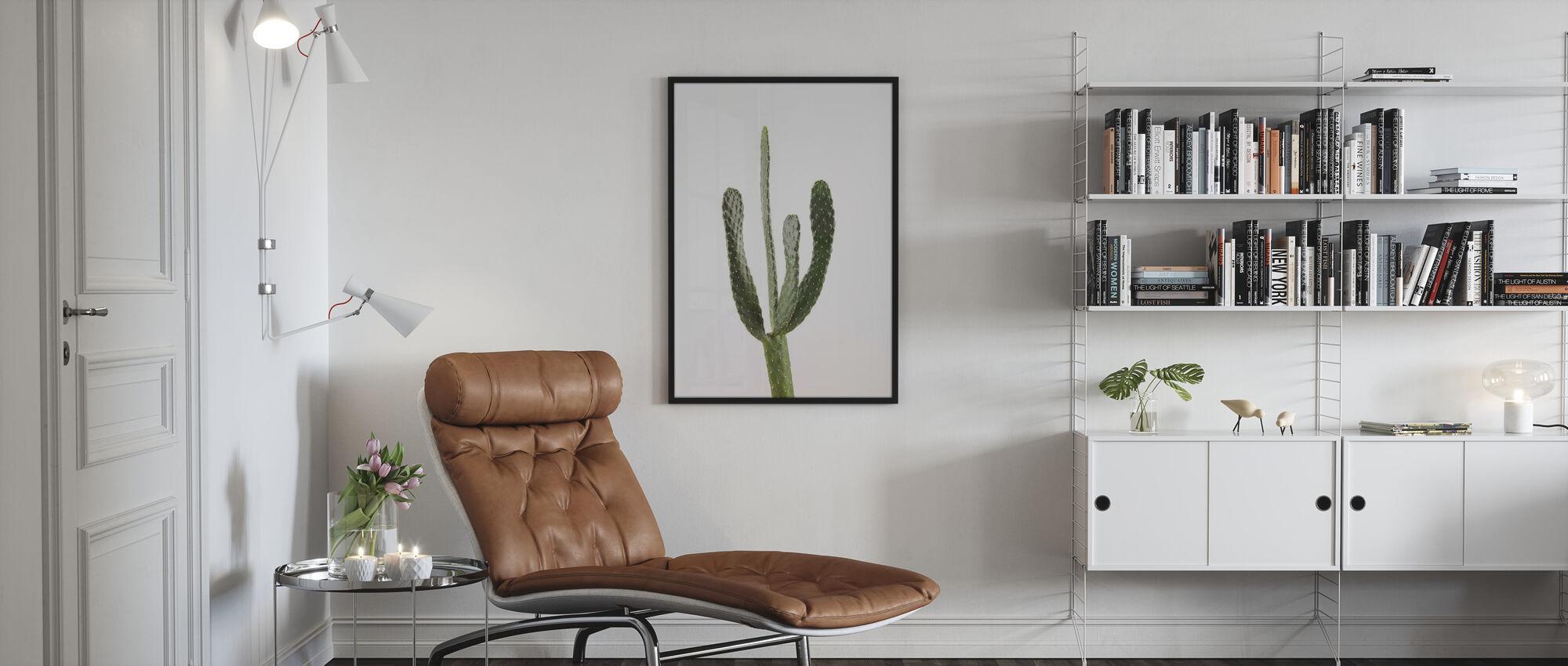 Kaktukset - Valkoinen - Juliste - Olohuone