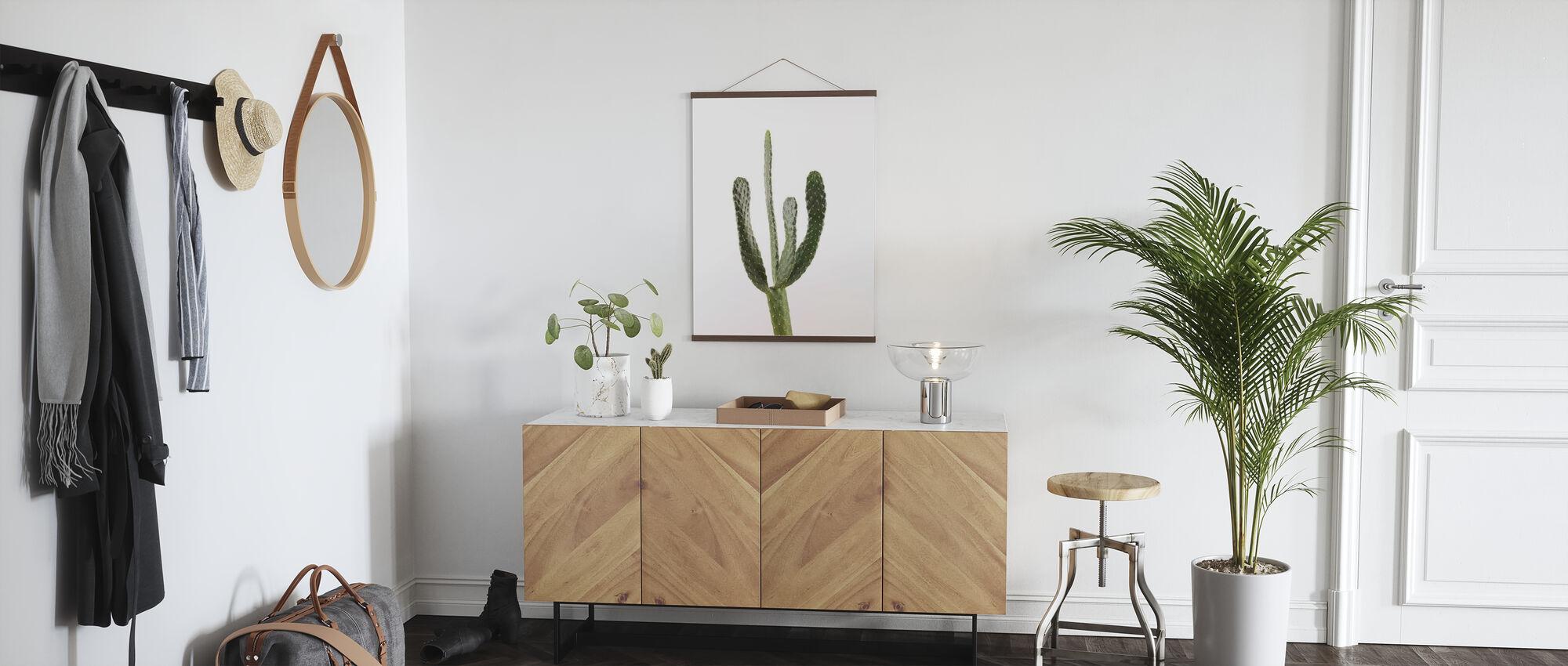 Kaktus - Hvit - Plakat - Gang