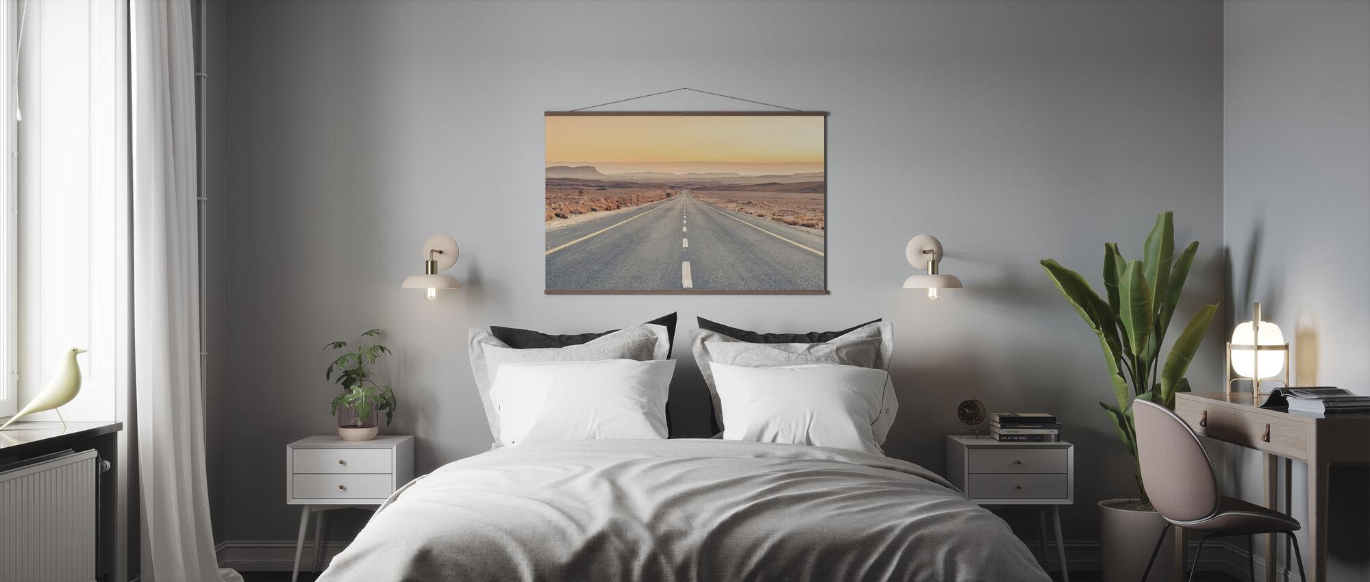 Wüstenstraße - Poster - Schlafzimmer