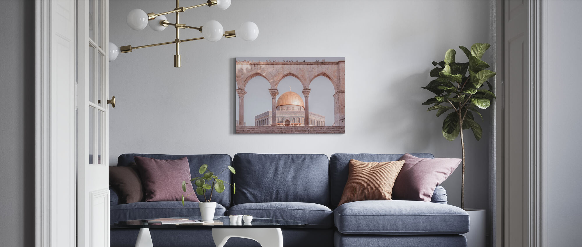 Al-Aqsa-moskeen - Jerusalem - Billede på lærred - Stue
