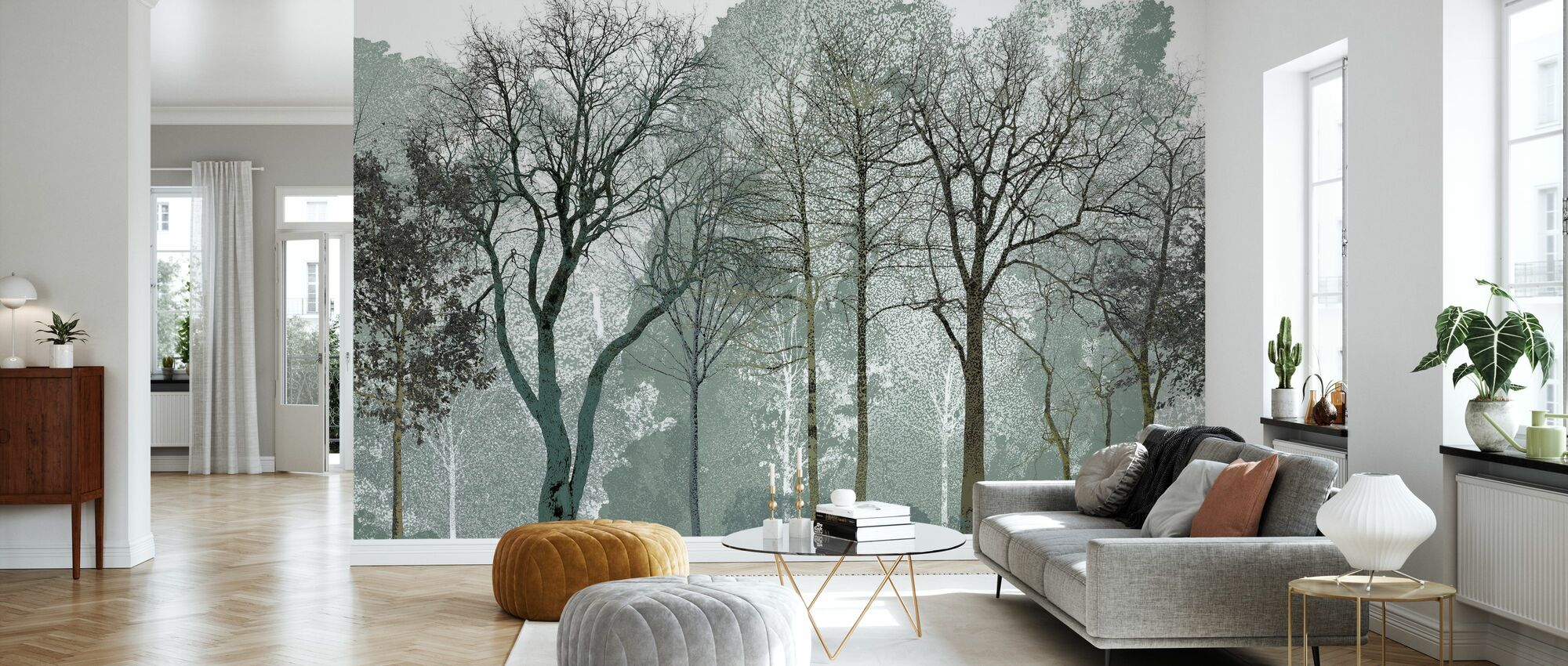 Early Spring in the Woods - Wallpaper - Living Room
