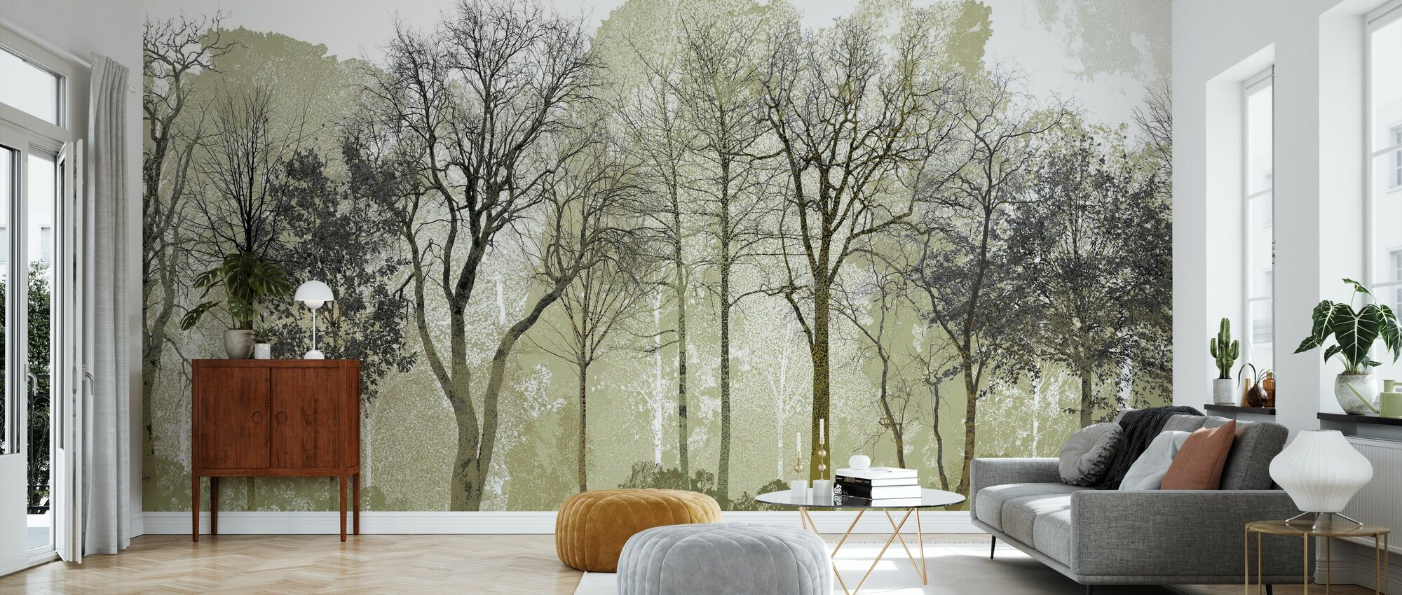 Spring in the Woods - Wallpaper - Living Room