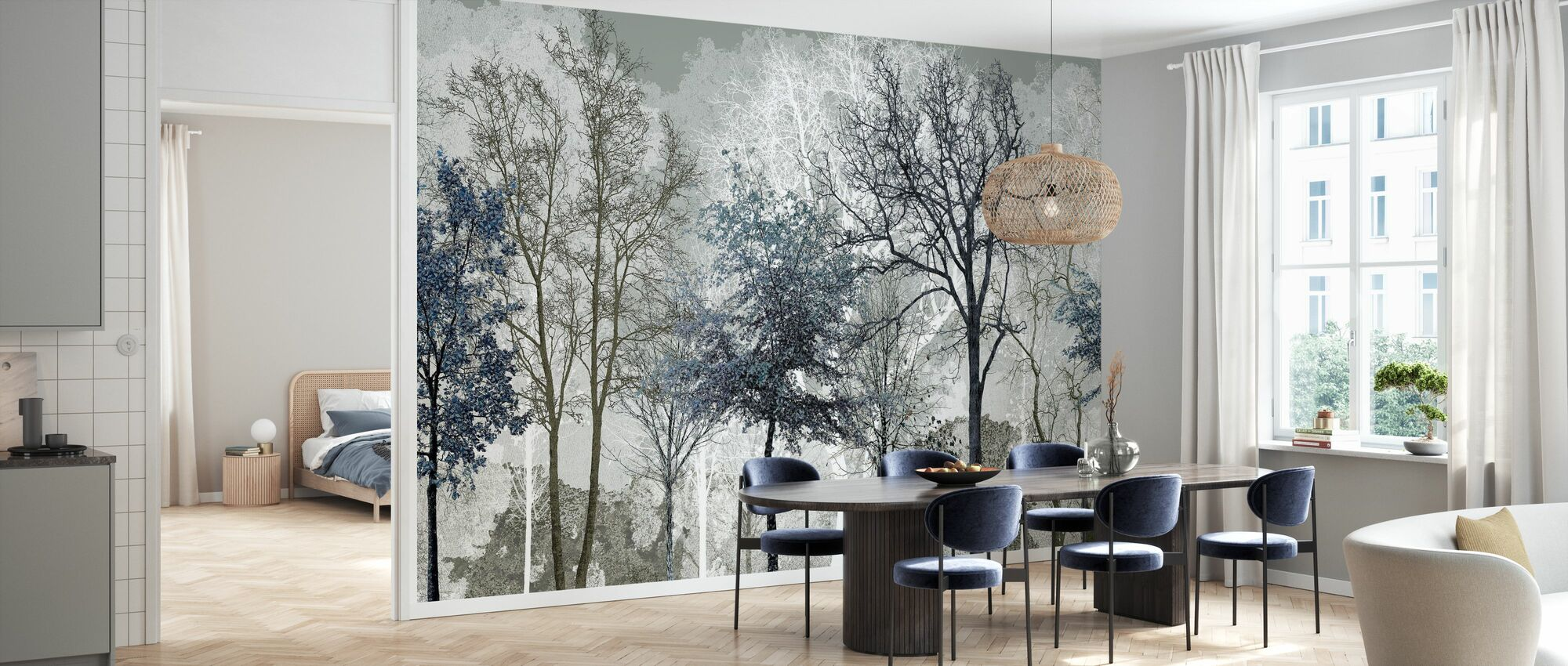 Winter Blues in the Woods - Wallpaper - Kitchen