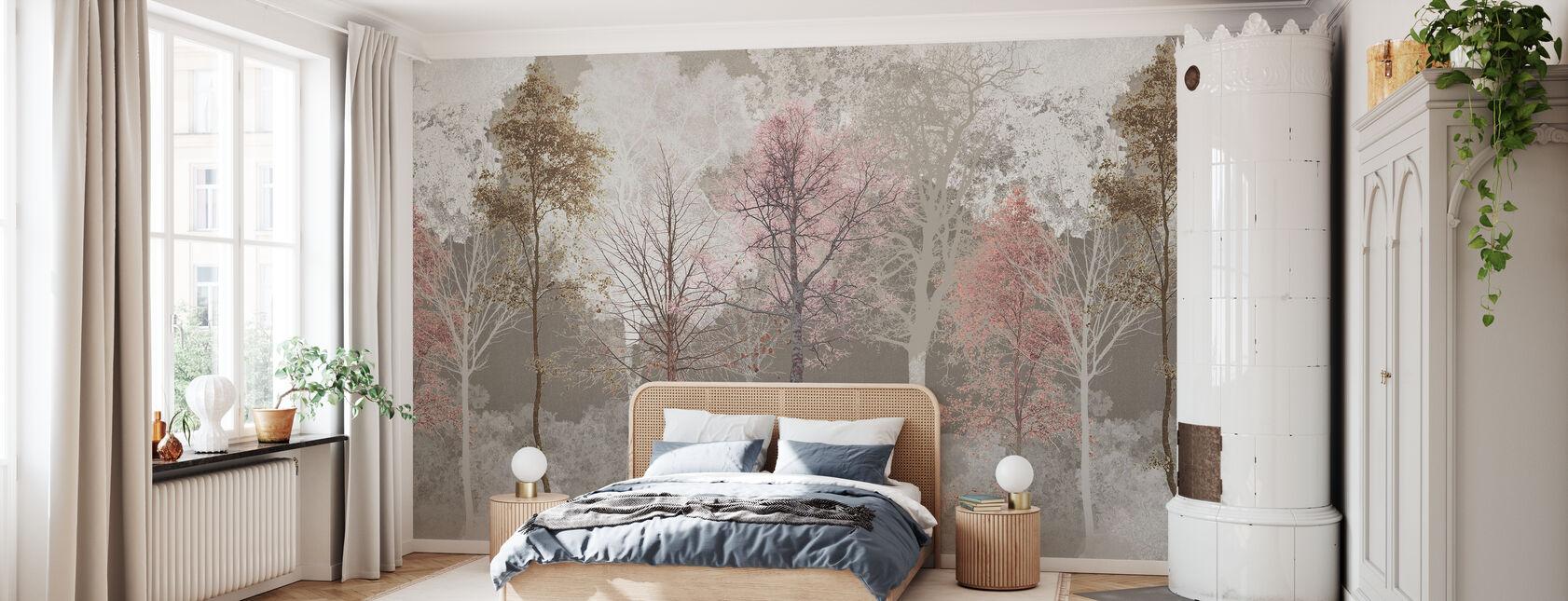 Hidden Vogel - Roze Beige - Behang - Slaapkamer
