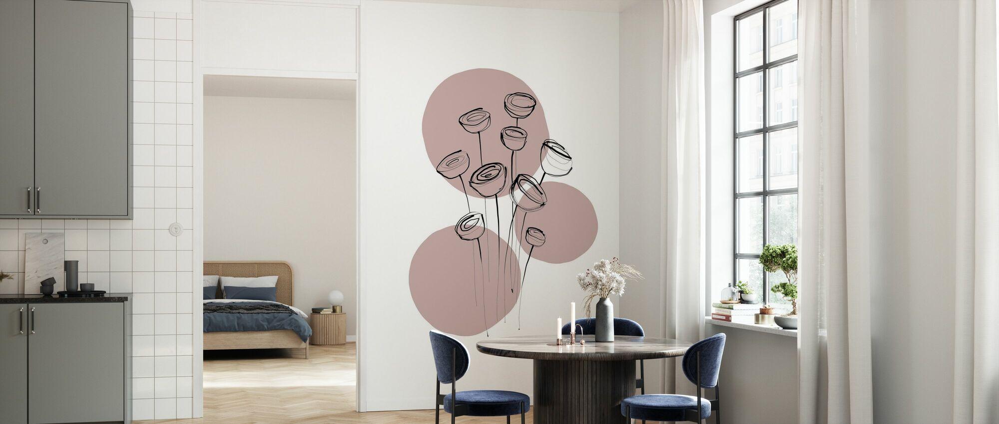 Delicate Botanicals - Water Lily - Wallpaper - Kitchen