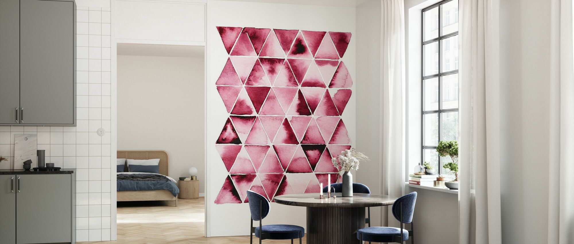 Red Triangles - Wallpaper - Kitchen