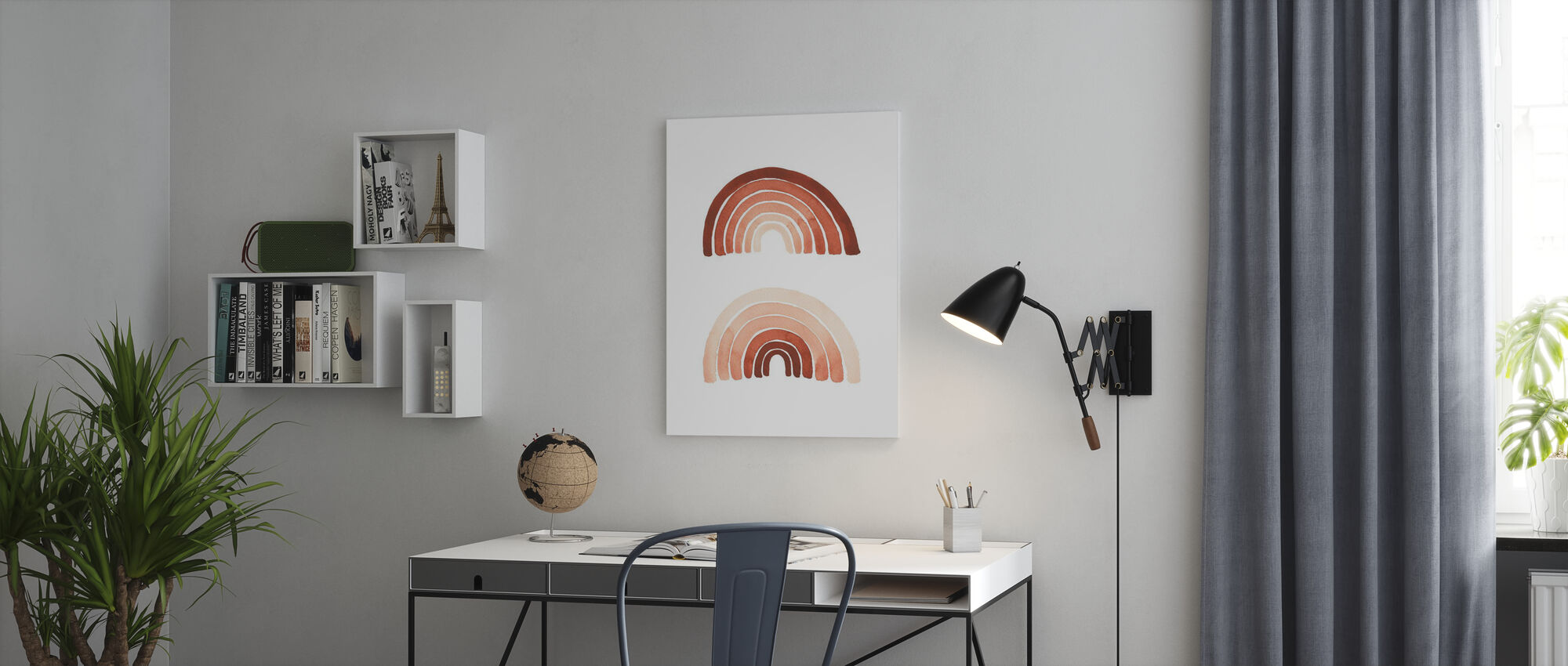 Orange Rainbow - Canvas print - Office