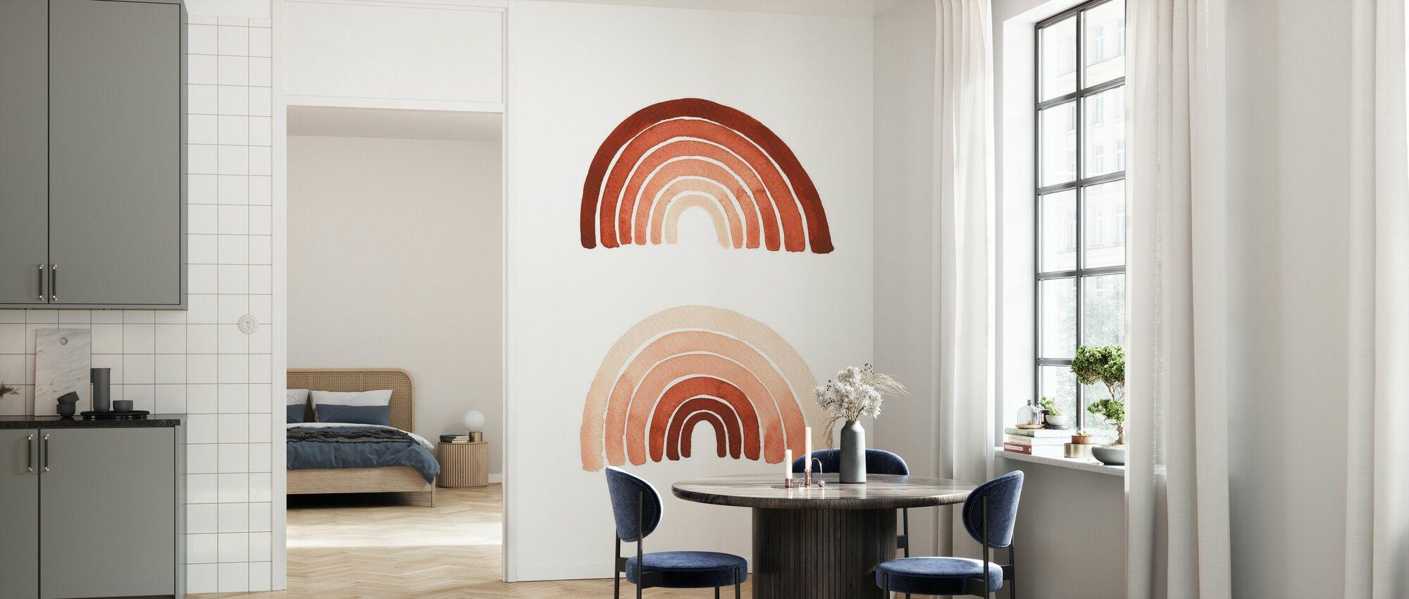Orange Rainbow - Wallpaper - Kitchen